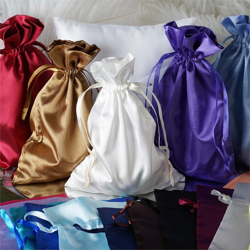 60 Pcs 6x9 Satin Favor Bags Wedding Party Reception Gift Favors