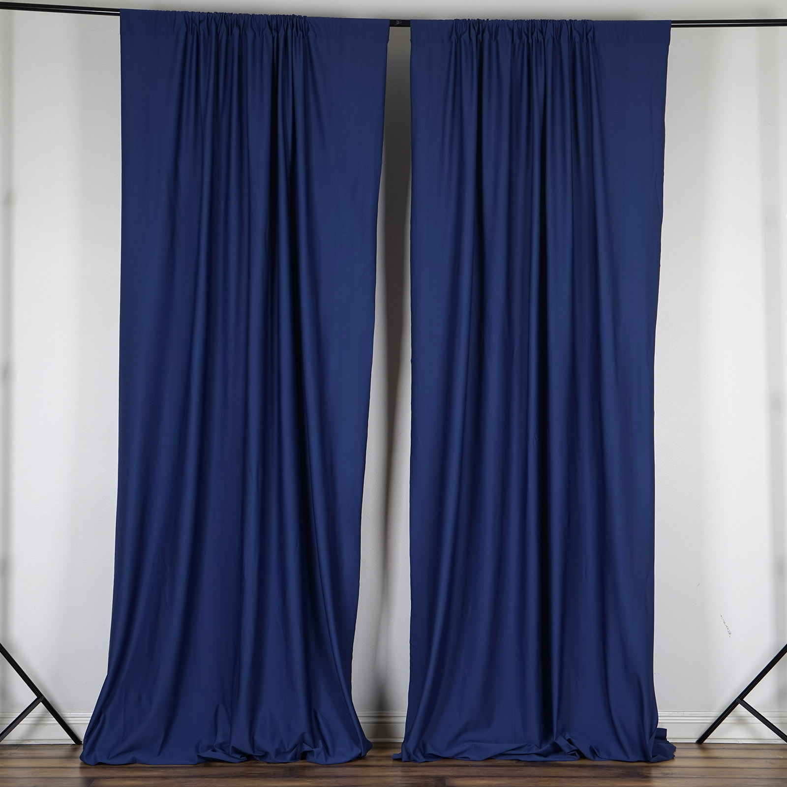 navy blue 10 x 10 ft polyester backdrop curtains drapes panels home