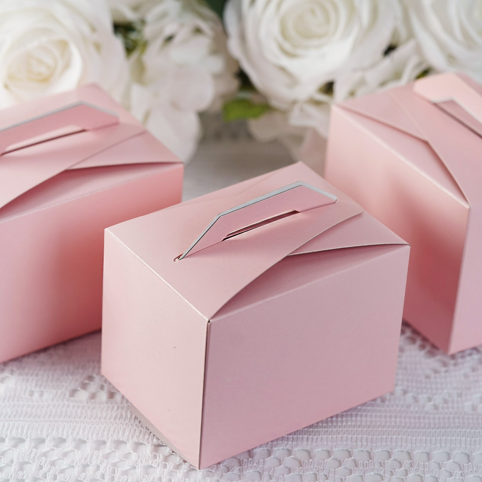 200 pcs Tote Boxes with Handles for Wedding Favors Party Decorations ...