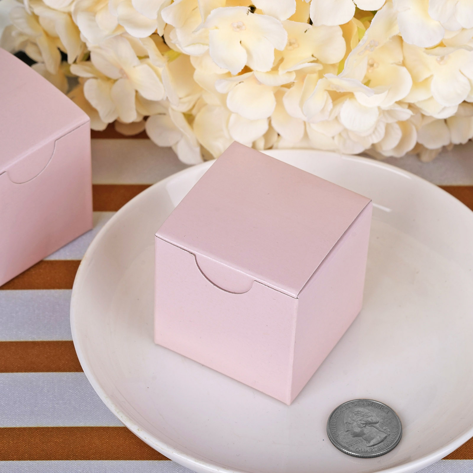 """100 pcs Silver FAVOR BOXES 2/""""x2/"""" Wedding Party Home Decorations GIFT Supply SALE"""