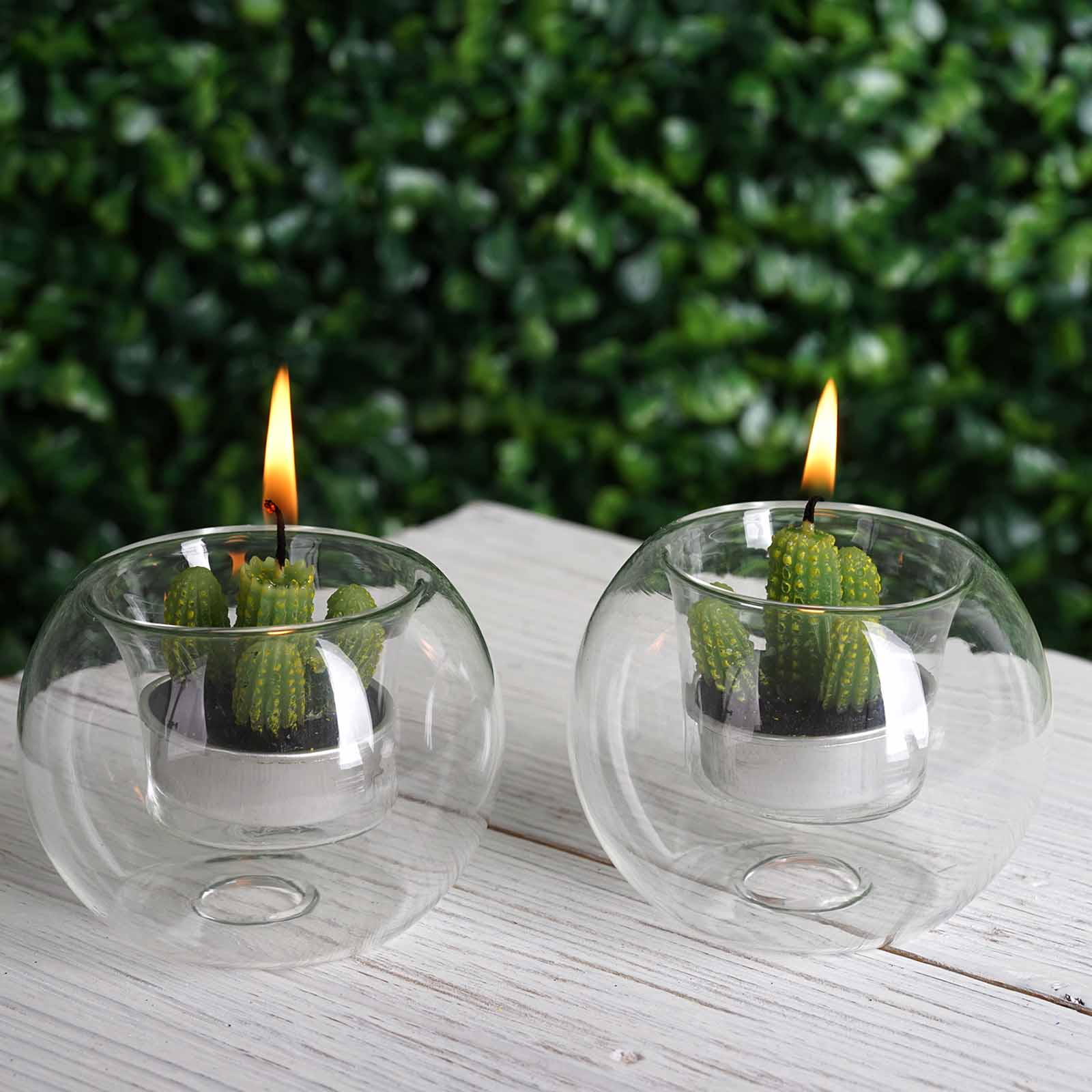 24 Pcs Clear Glass Globe Votive Candle Holders For Wedding Party Centerpieces Ebay
