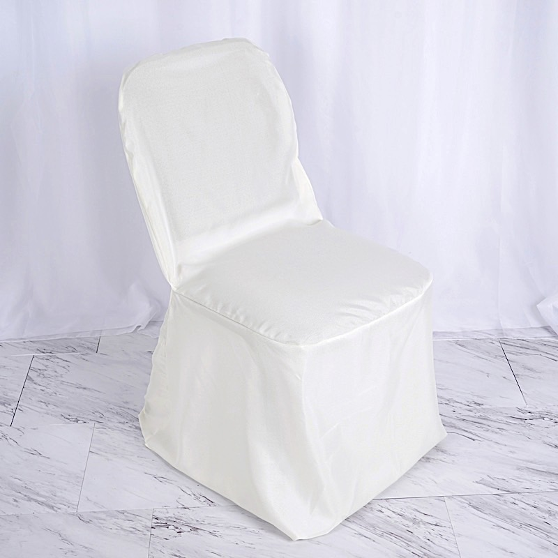 Awe Inspiring Details About 25 Ivory Polyester Banquet Chair Covers Wedding Reception Party Decorations Creativecarmelina Interior Chair Design Creativecarmelinacom