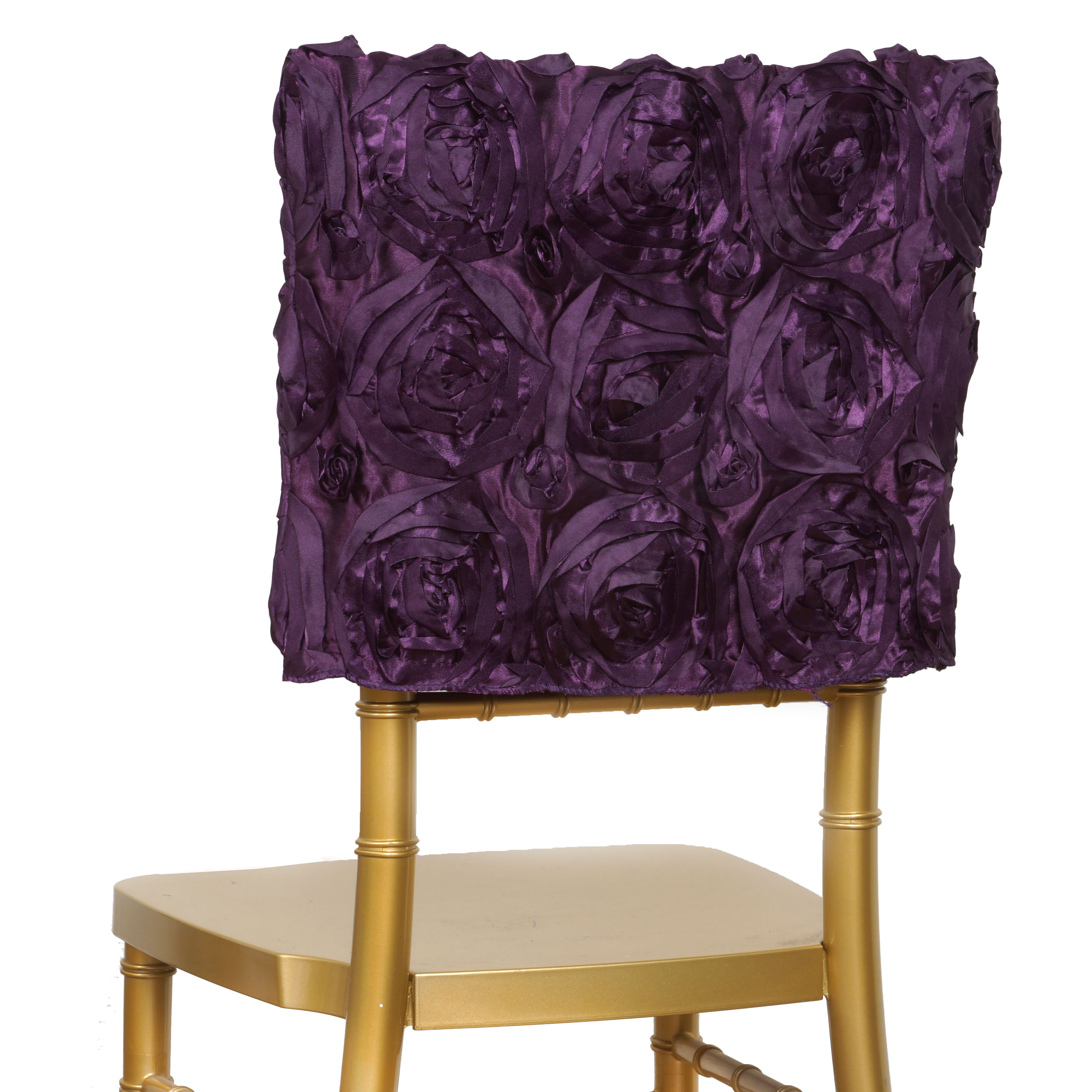 Peachy Details About Eggplant Purple Chair Cover Square Top Cap Party Wedding Ceremony Reception Sale Machost Co Dining Chair Design Ideas Machostcouk