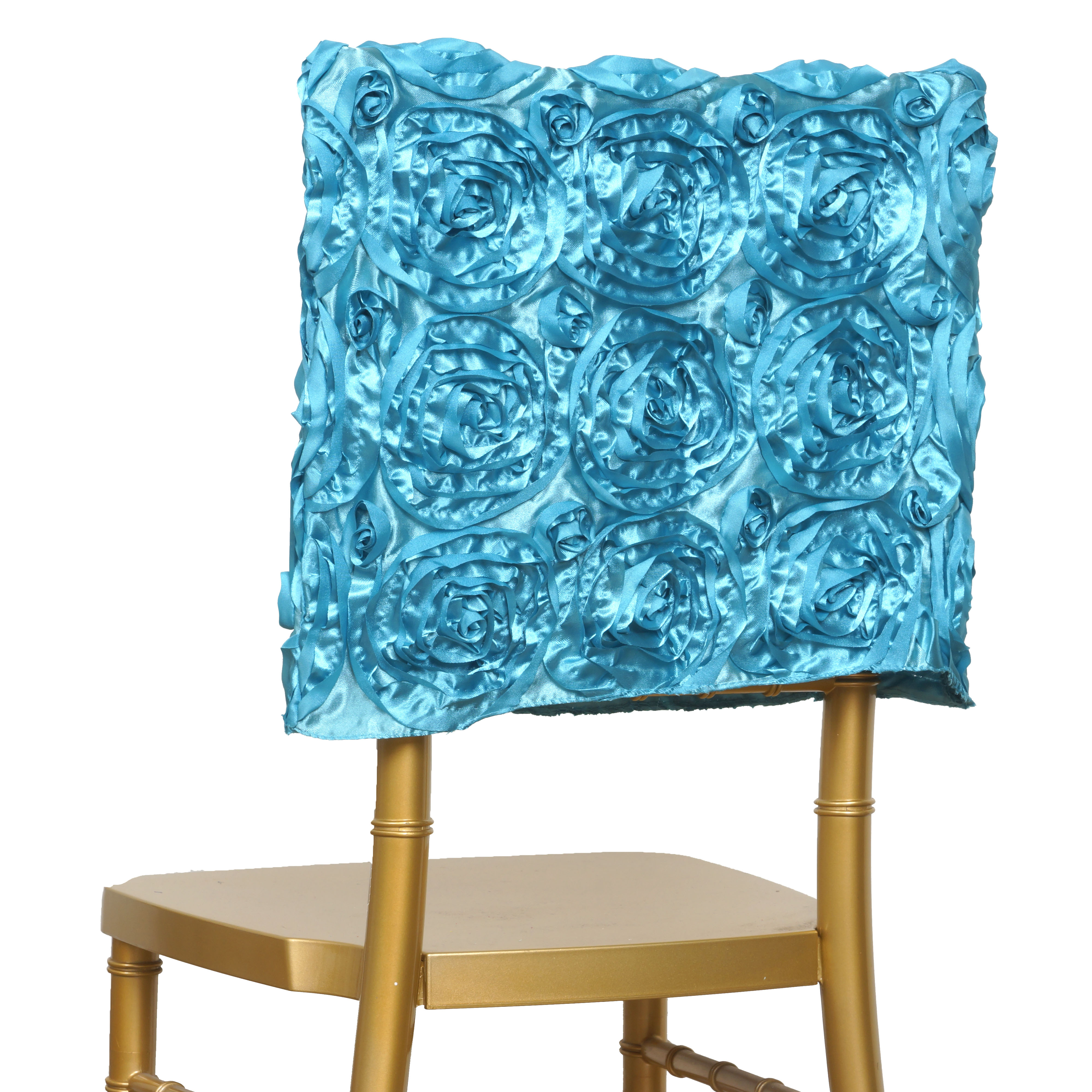 Stupendous Details About Turquoise Chair Cover Square Top Cap Party Wedding Reception Decorations Sale Creativecarmelina Interior Chair Design Creativecarmelinacom