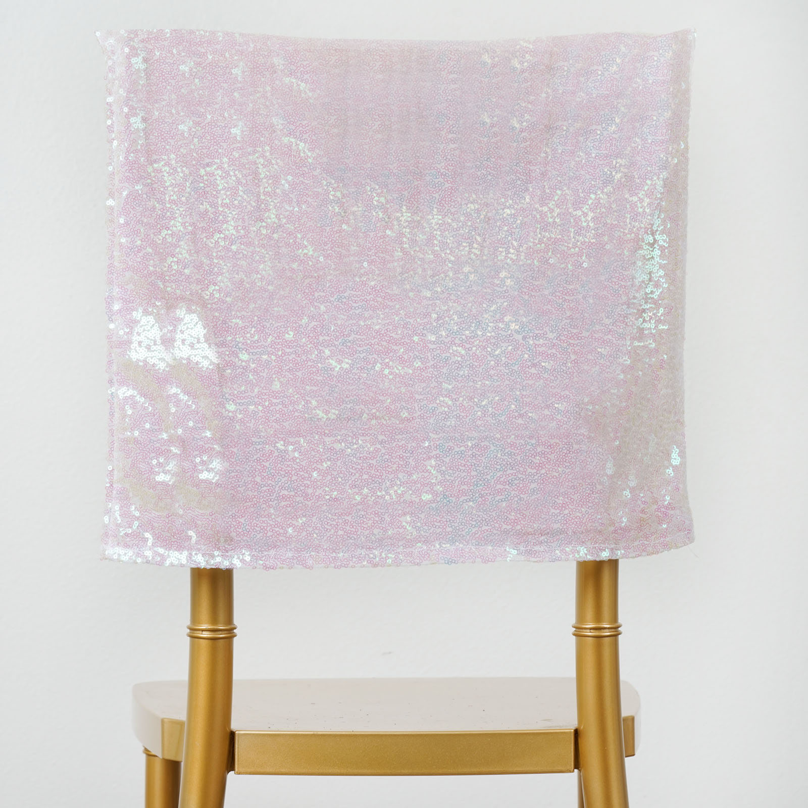 24 Pcs Sequin Chair Covers Square Top Caps Party Wedding