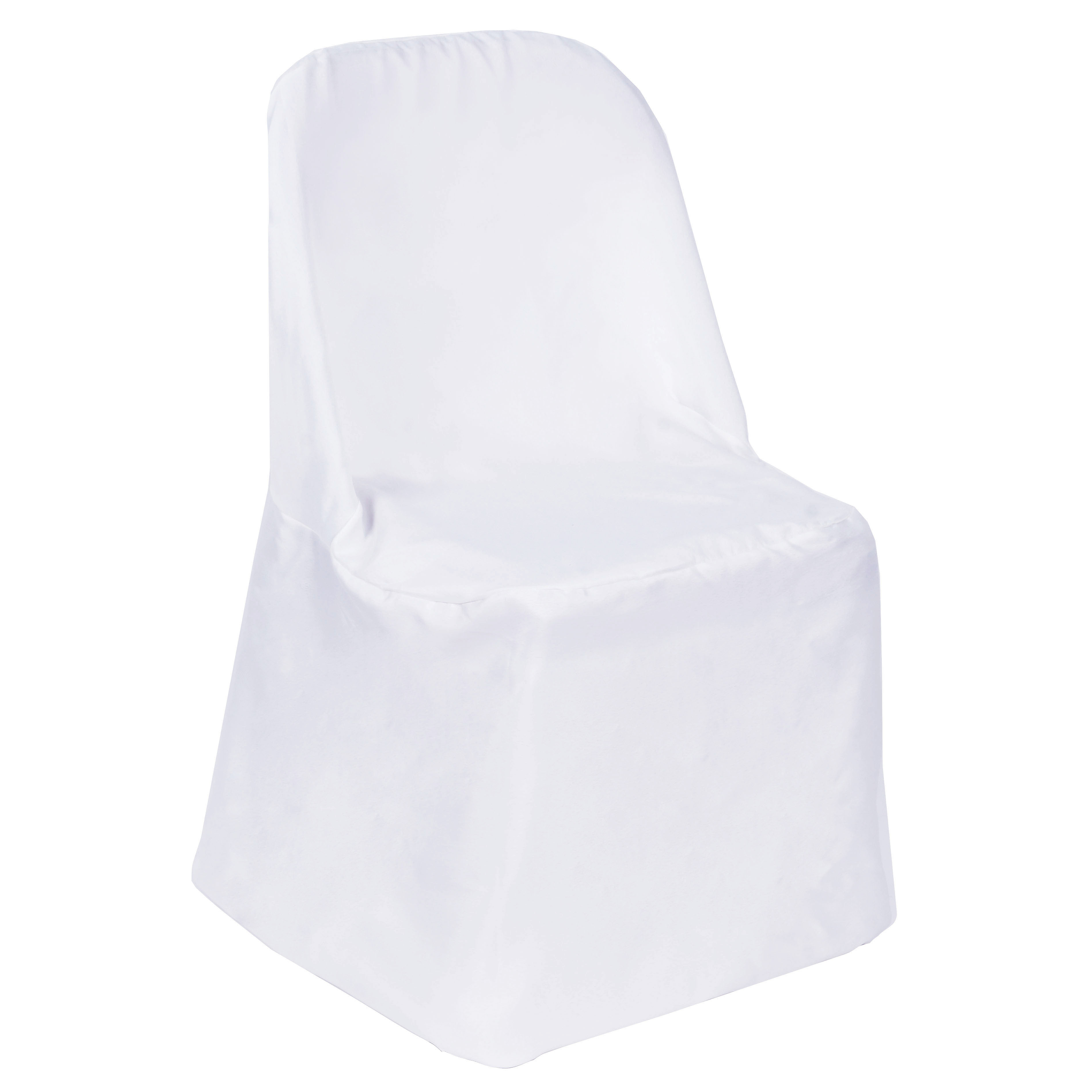 50 POLYESTER Folding Flat CHAIR COVER Wedding Trade Show Wedding