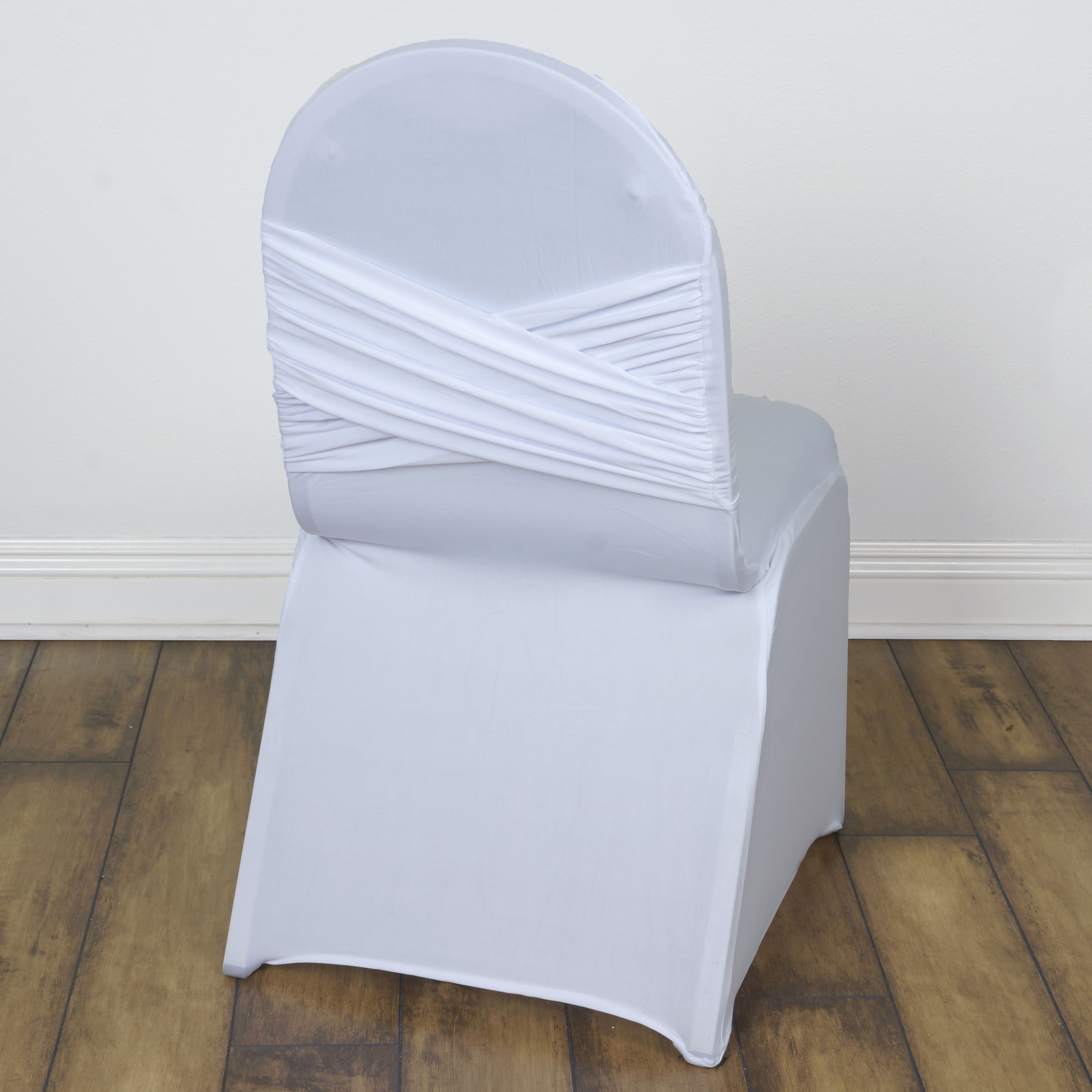 Astounding Details About 50 Pcs Madrid Banquet Chair Covers With Crisscross Design Wedding Decorations Machost Co Dining Chair Design Ideas Machostcouk