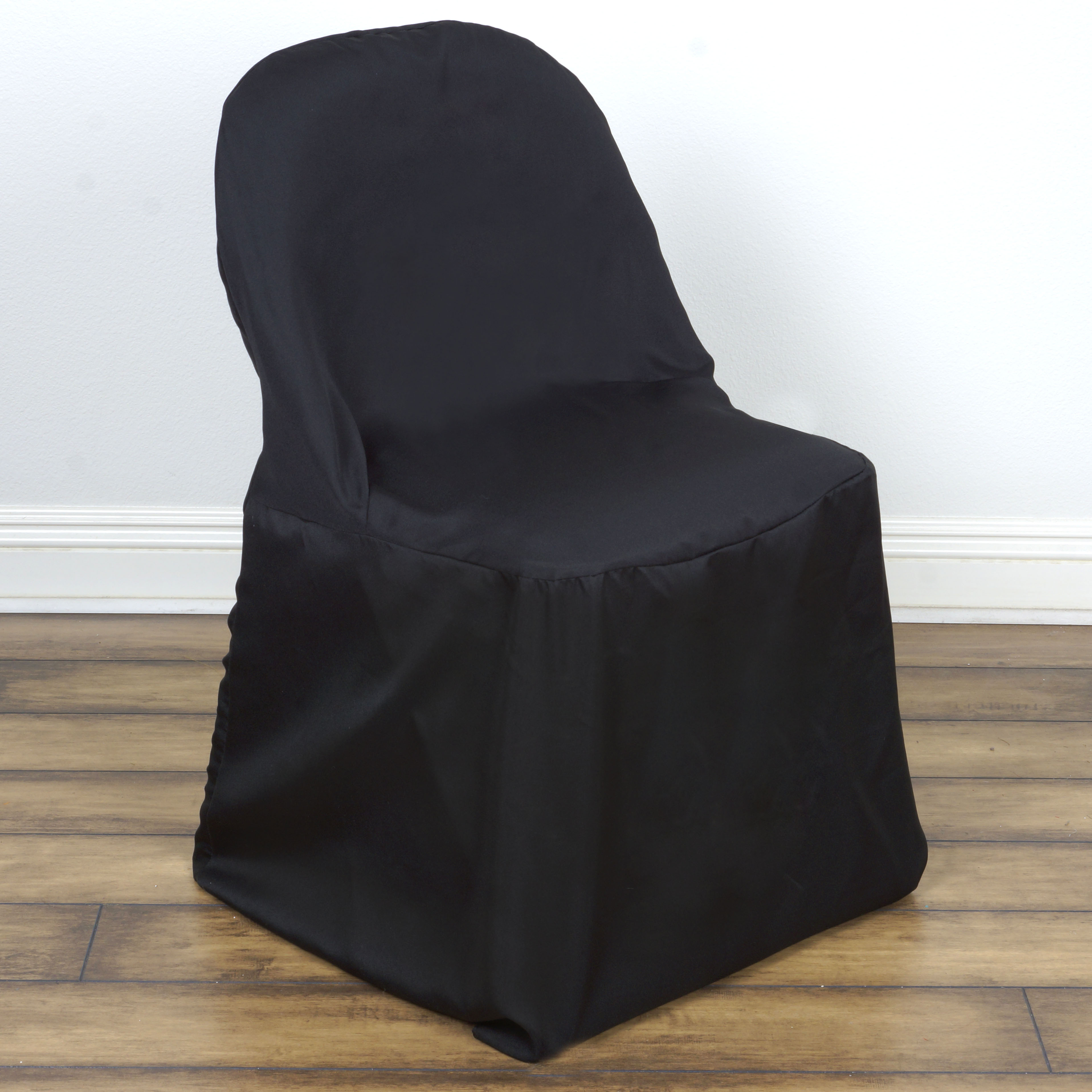 100 pcs POLYESTER ROUND FOLDING CHAIR COVERS Wholesale Discount