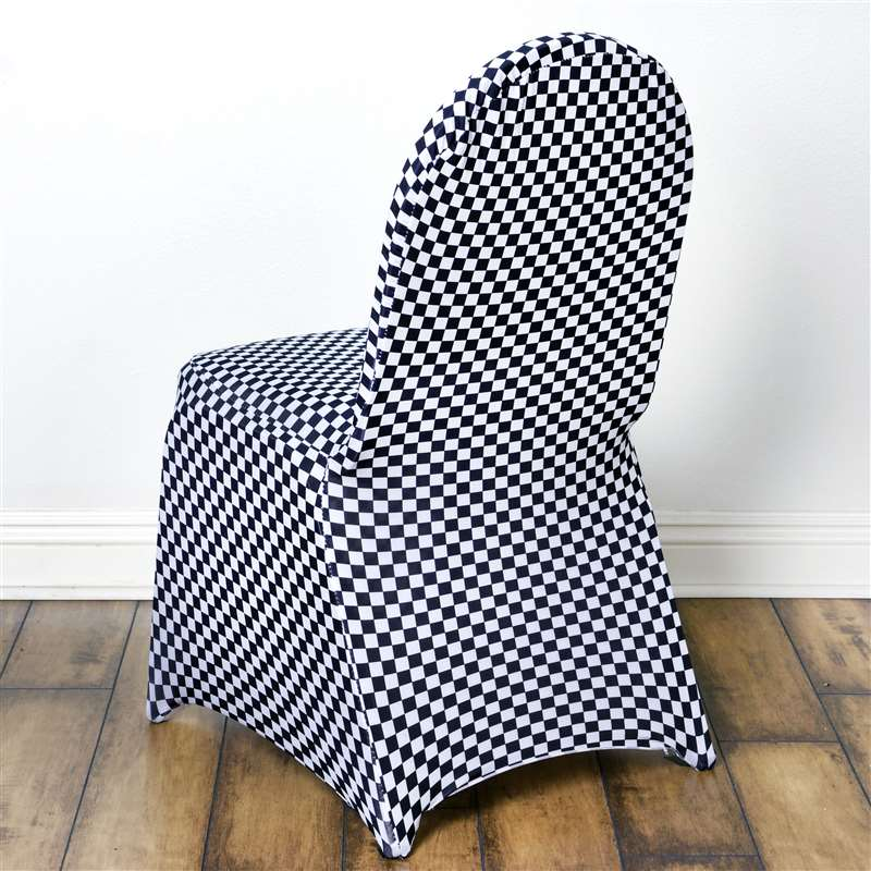 Terrific Details About Black And White Spandex Checkered Stretchable Chair Cover Wedding Decoration Unemploymentrelief Wooden Chair Designs For Living Room Unemploymentrelieforg