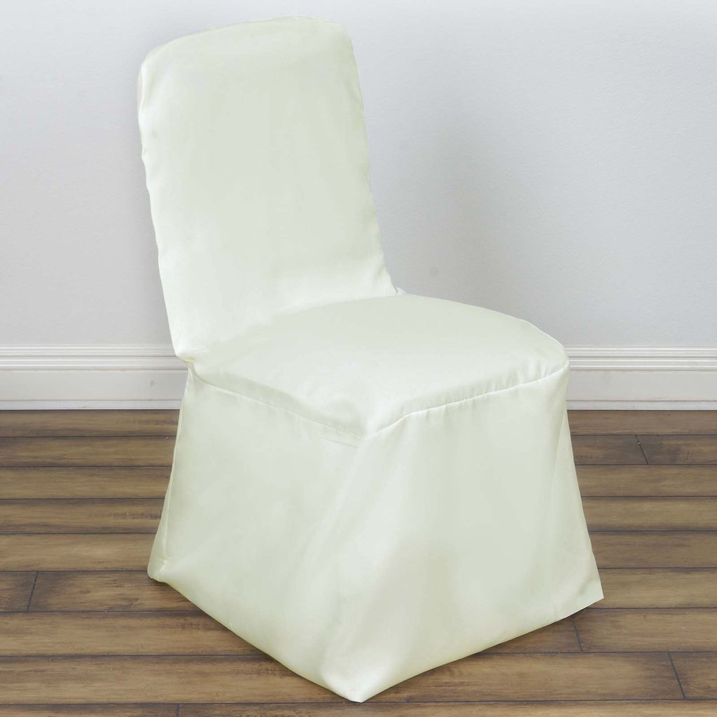 Details About 1 Ivory SQUARE TOP POLYESTER BANQUET CHAIR COVER Sample Party  Wedding Supplies