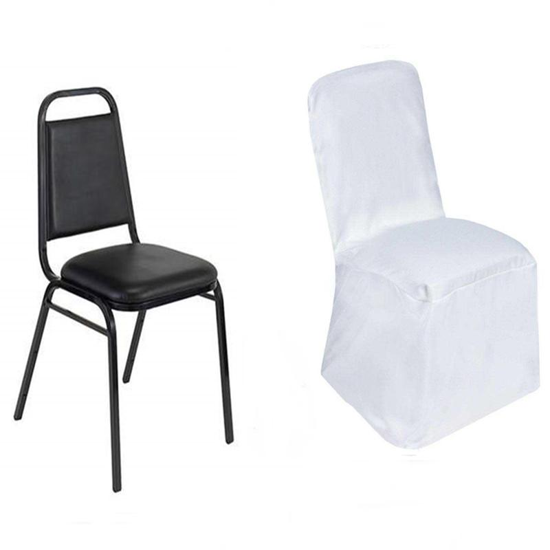 100 pcs SQUARE TOP POLYESTER BANQUET CHAIR COVERS Wholesale