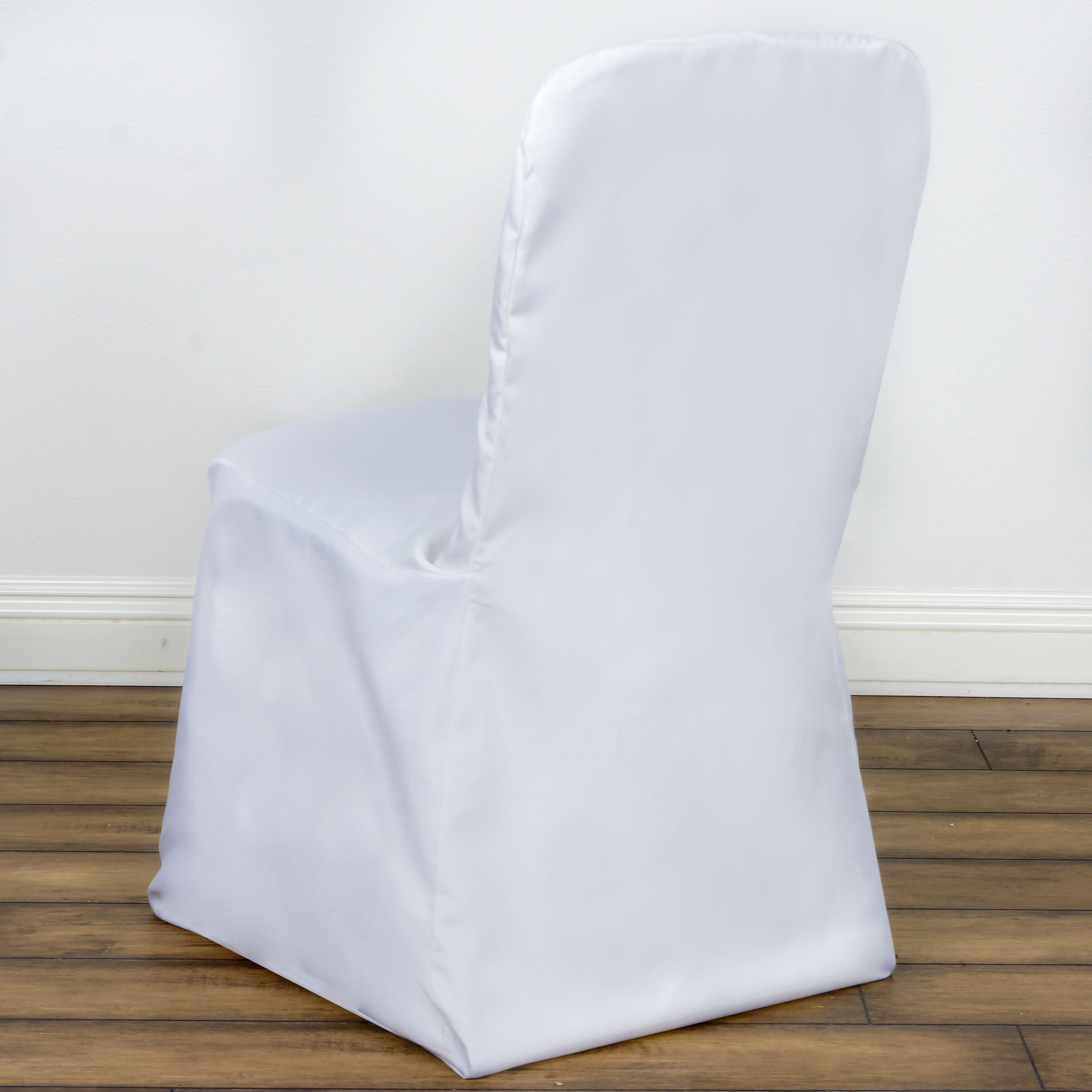 50 pcs SQUARE TOP POLYESTER BANQUET CHAIR COVERS Party Wedding