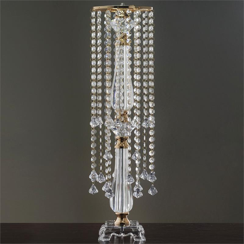Gold quot tall wedding centerpiece with faux crystals party