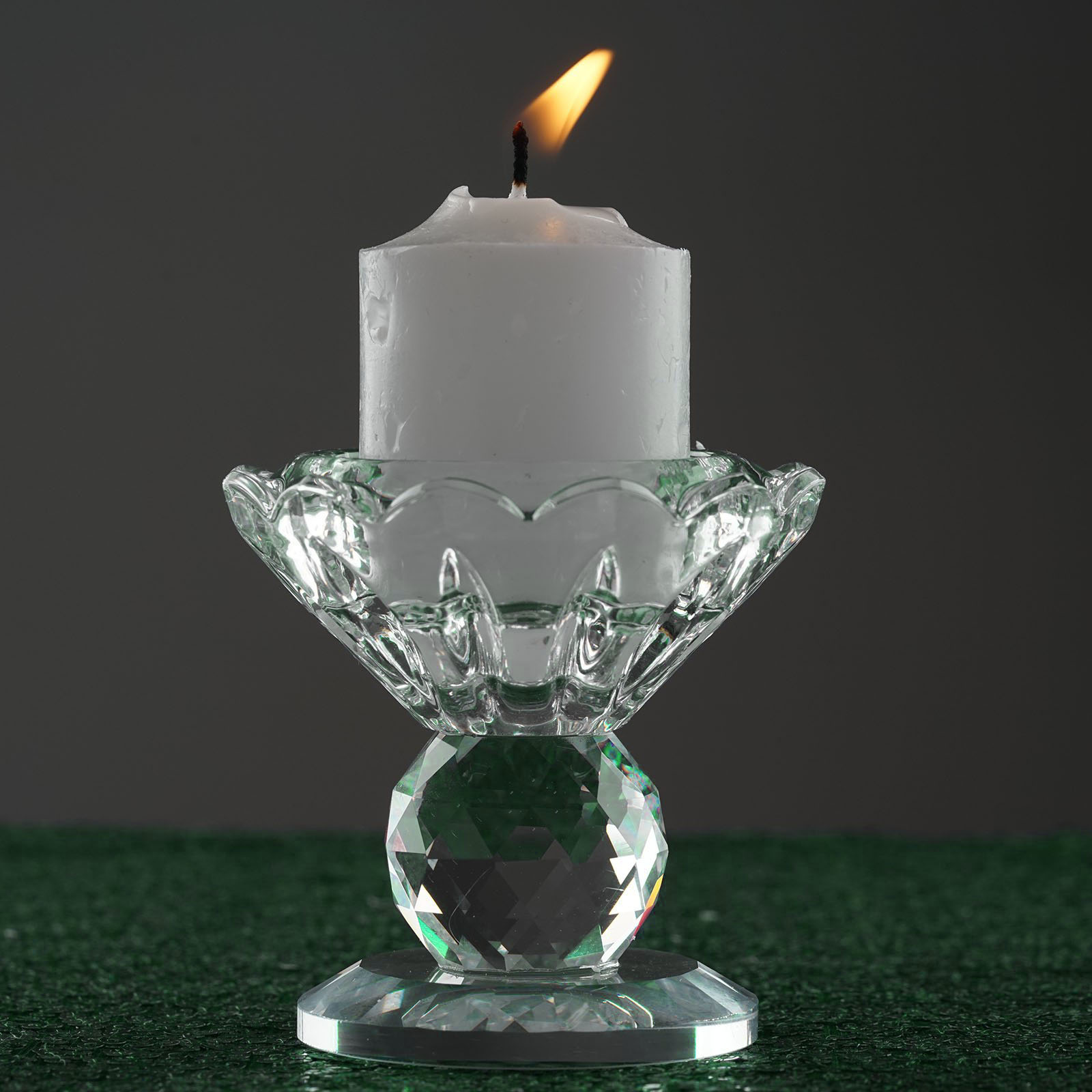 Details About Clear Crystal Candle Holder 25 Tall Candlestick Wedding Home Decorations SALE