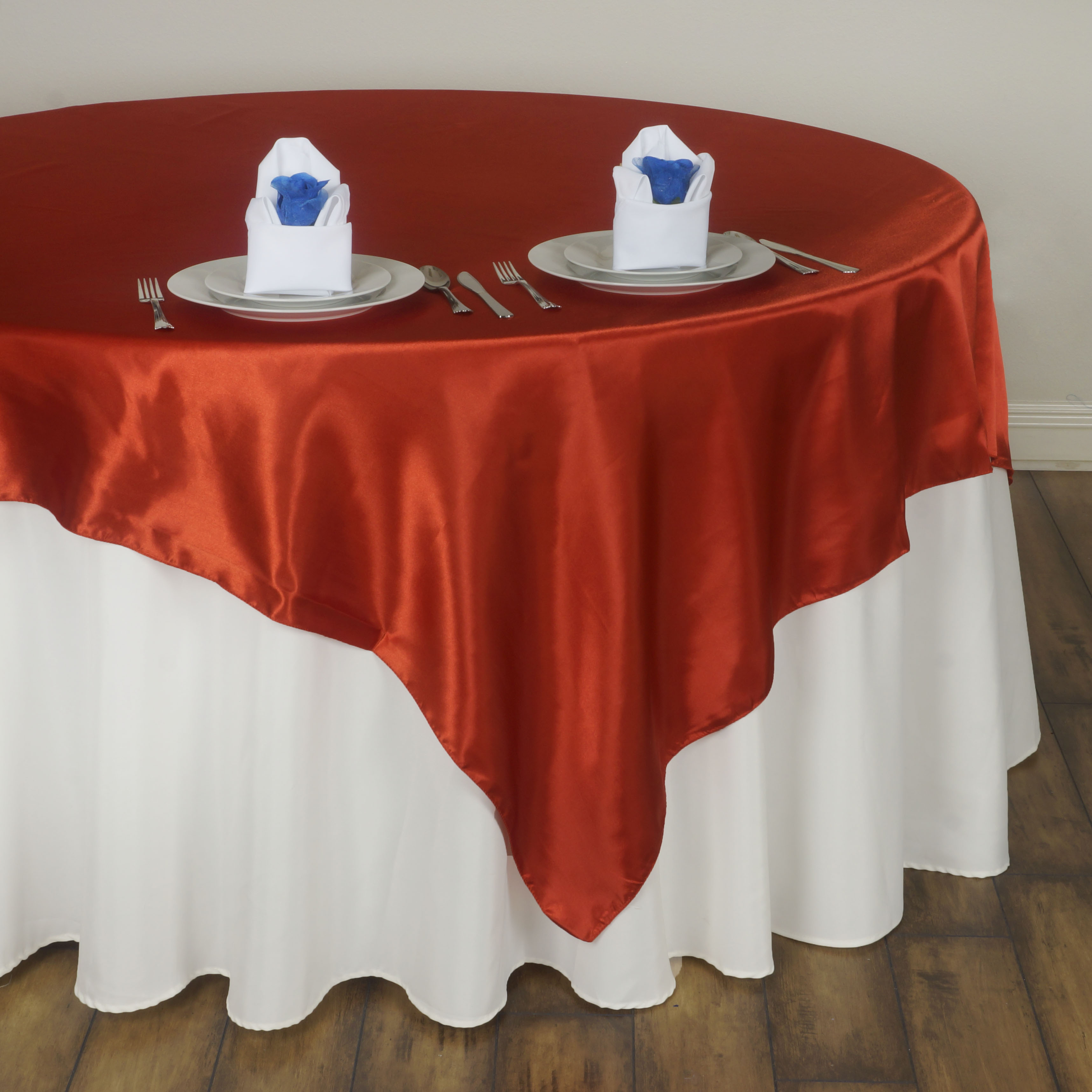 Exceptionnel 6 X SATIN SQUARE 60 034 Table OVERLAYS