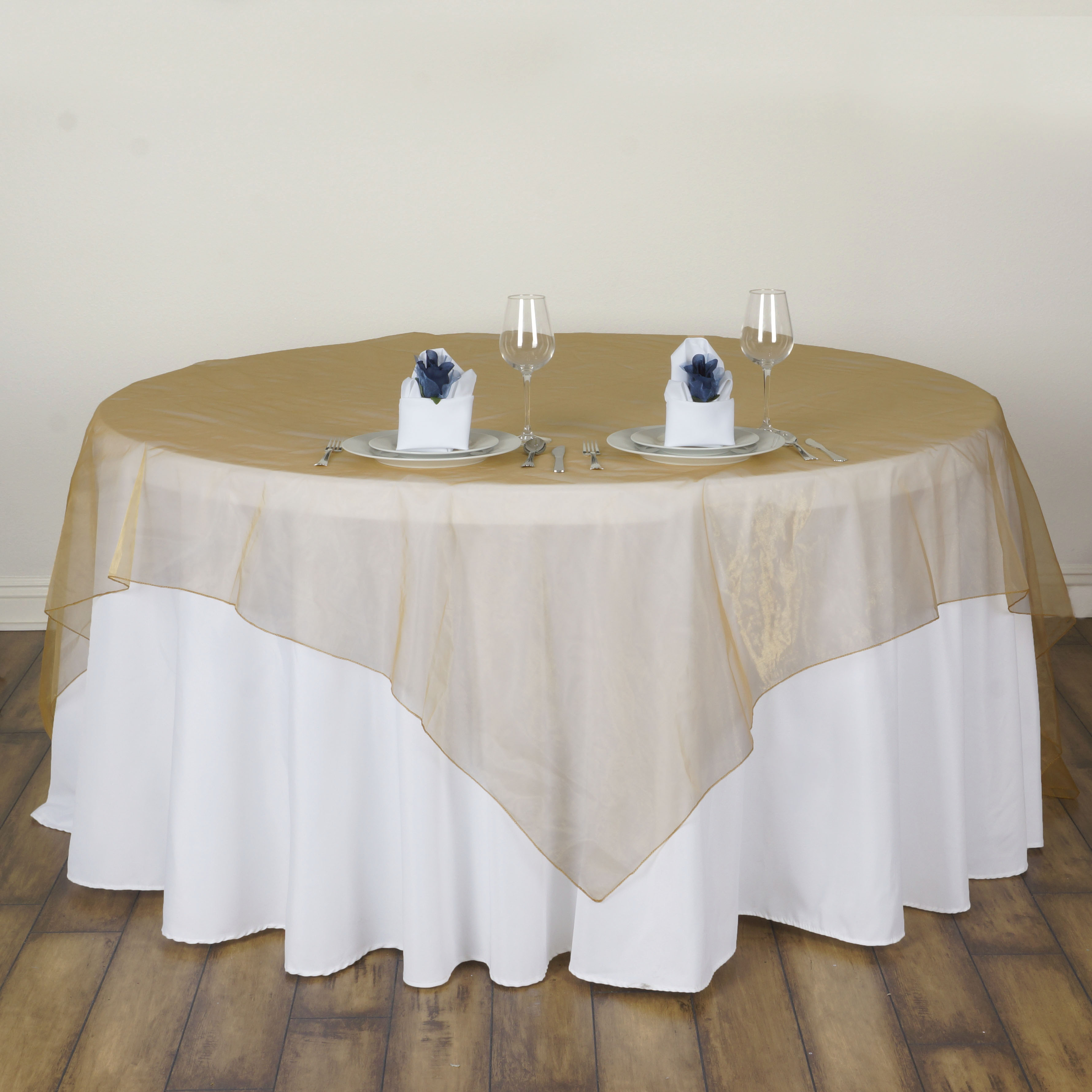 Sheer Table Overlays Wedding