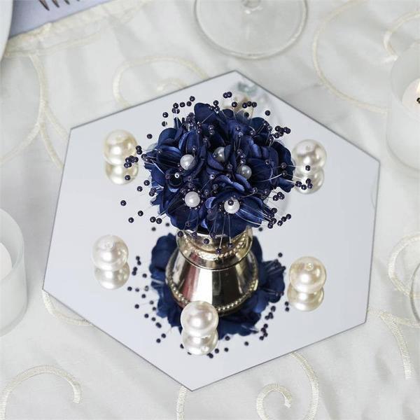 12 Pcs 8 Hexagon Mirrors Wedding Reception Centerpieces Wholesale