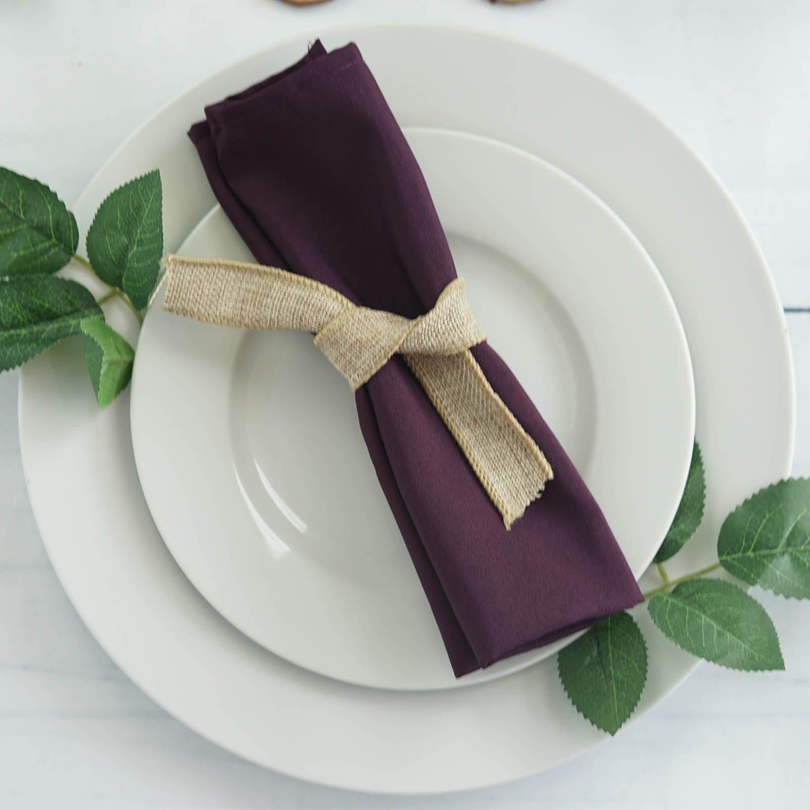 10 Eggplant Purple Polyester 20x20 Wedding Napkins Table Linens Decorations Ebay