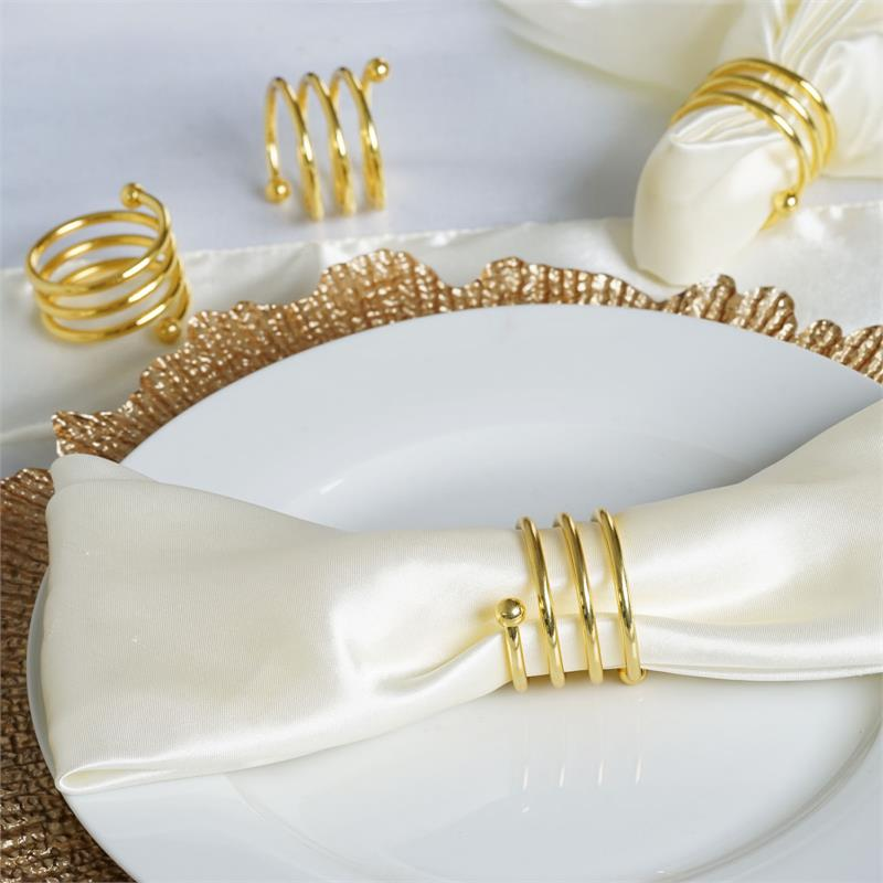 4PCS Agate Napkin Rings Wedding Party Banquet Holiday Catering Dining Decoration