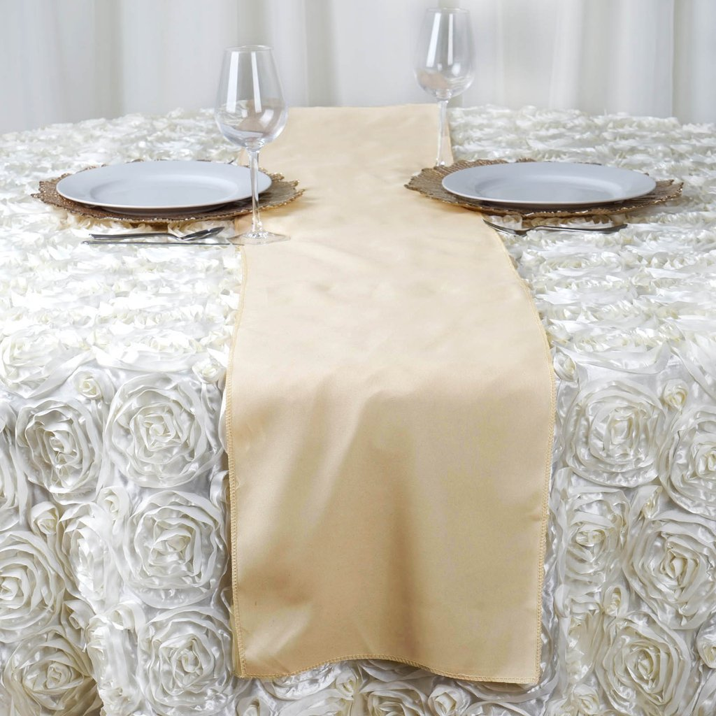 50 wholesale lot polyester 12x108 table runners wedding party linens on sale ebay. Black Bedroom Furniture Sets. Home Design Ideas