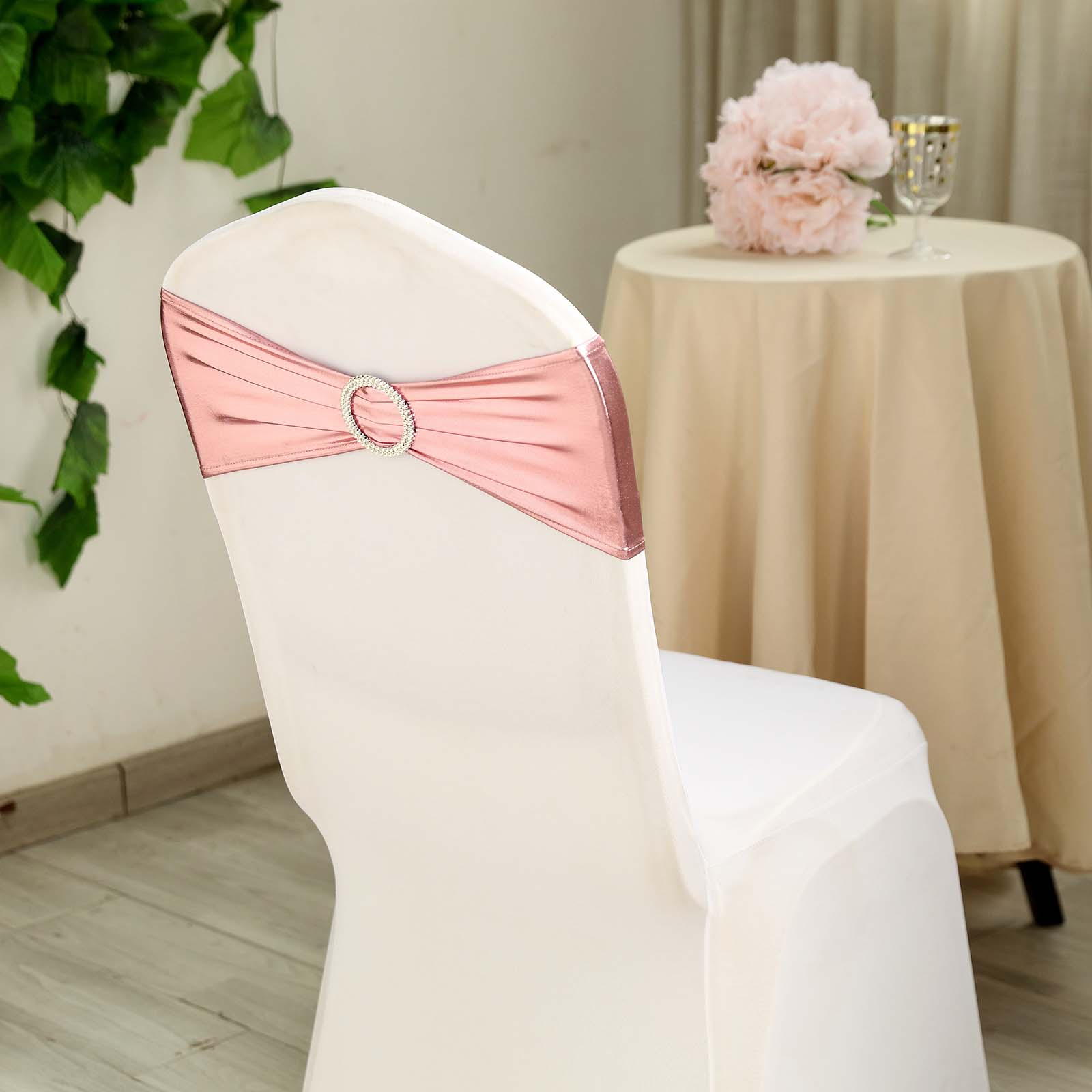 Astounding Details About 10 Rose Gold Metallic Spandex Chair Sashes Silver Buckles Wedding Decorations Alphanode Cool Chair Designs And Ideas Alphanodeonline