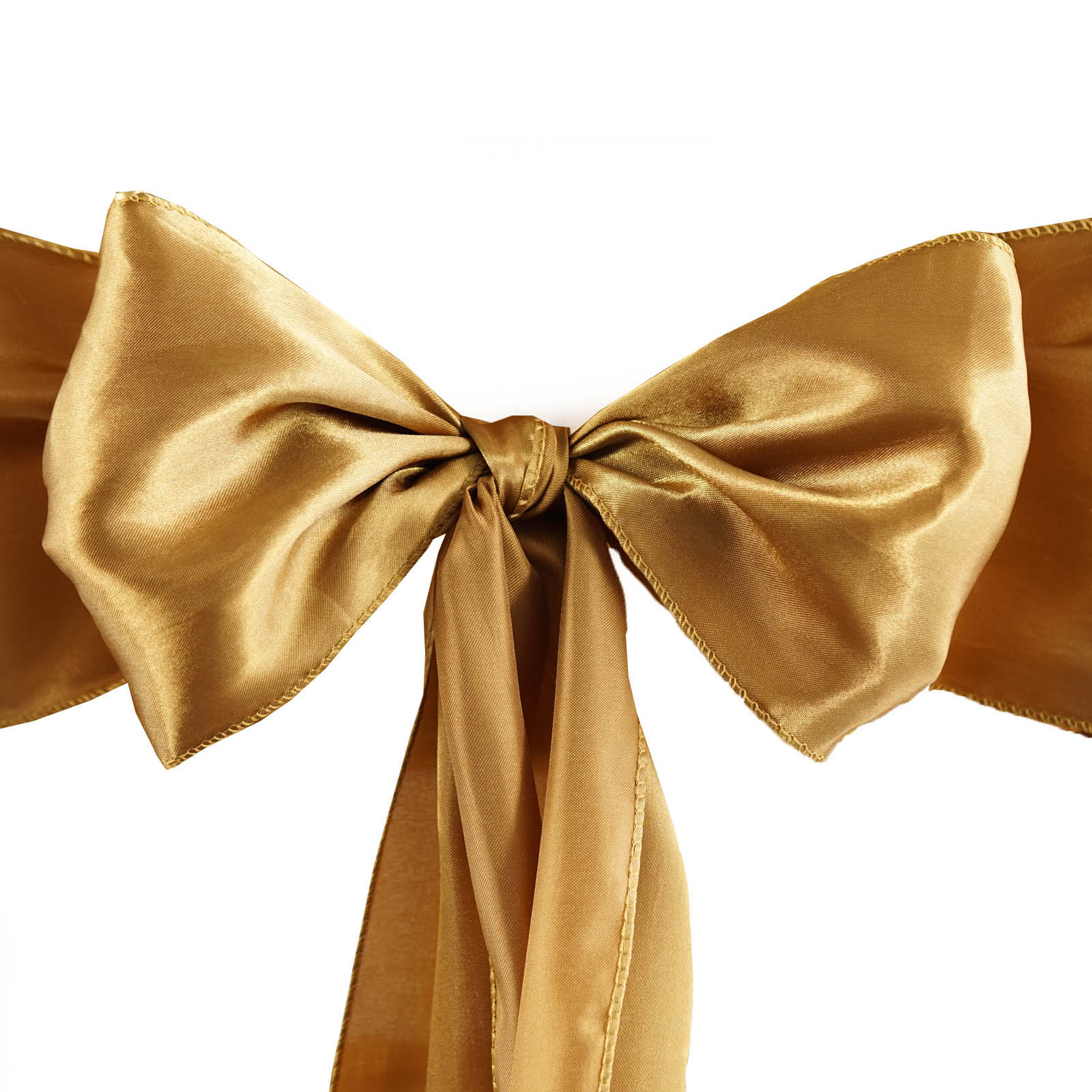 0a5a8deeb50f6 Details about 10 Antique Gold Satin CHAIR SASHES Ties Bows Wedding  Reception Decorations