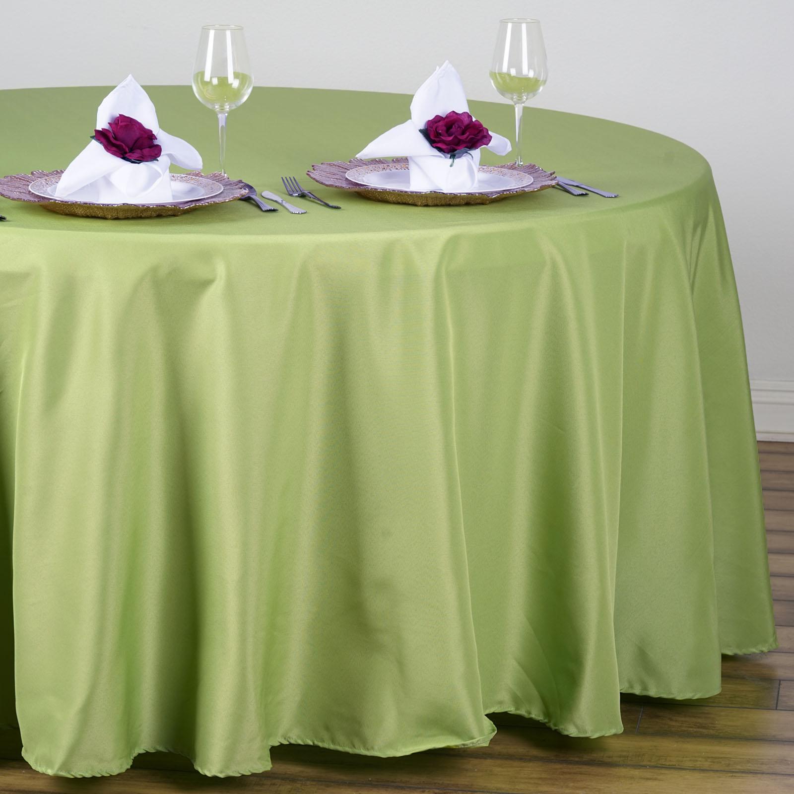"""Wedding Tablecloths: 10 Pcs 108"""" ROUND Wholesale Lot POLYESTER TABLECLOTHS"""