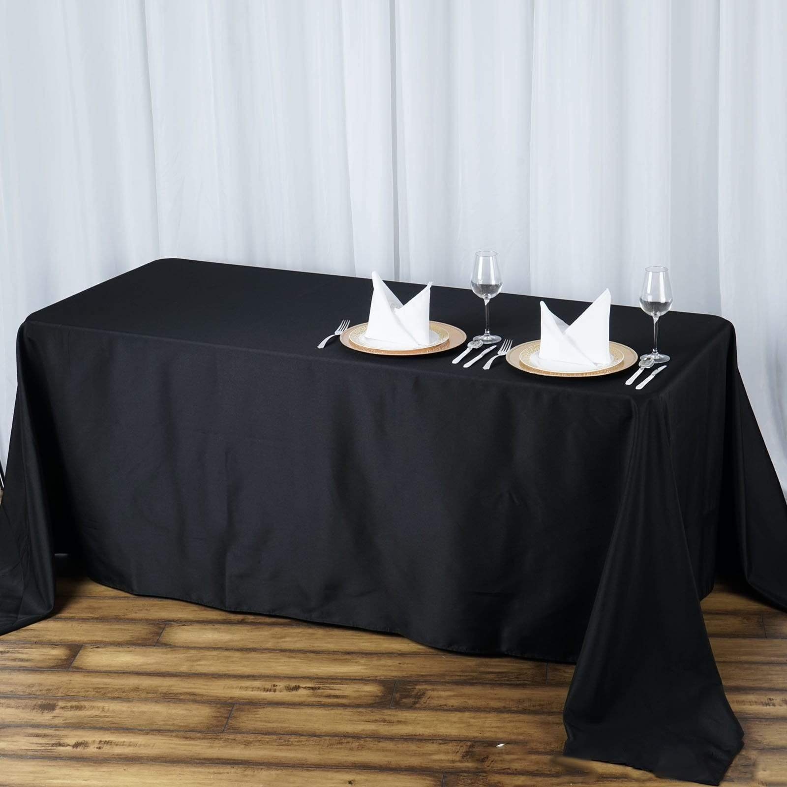 72x120-Inch RECTANGULAR Polyester Tablecloths Restaurant Catering Home Wedding