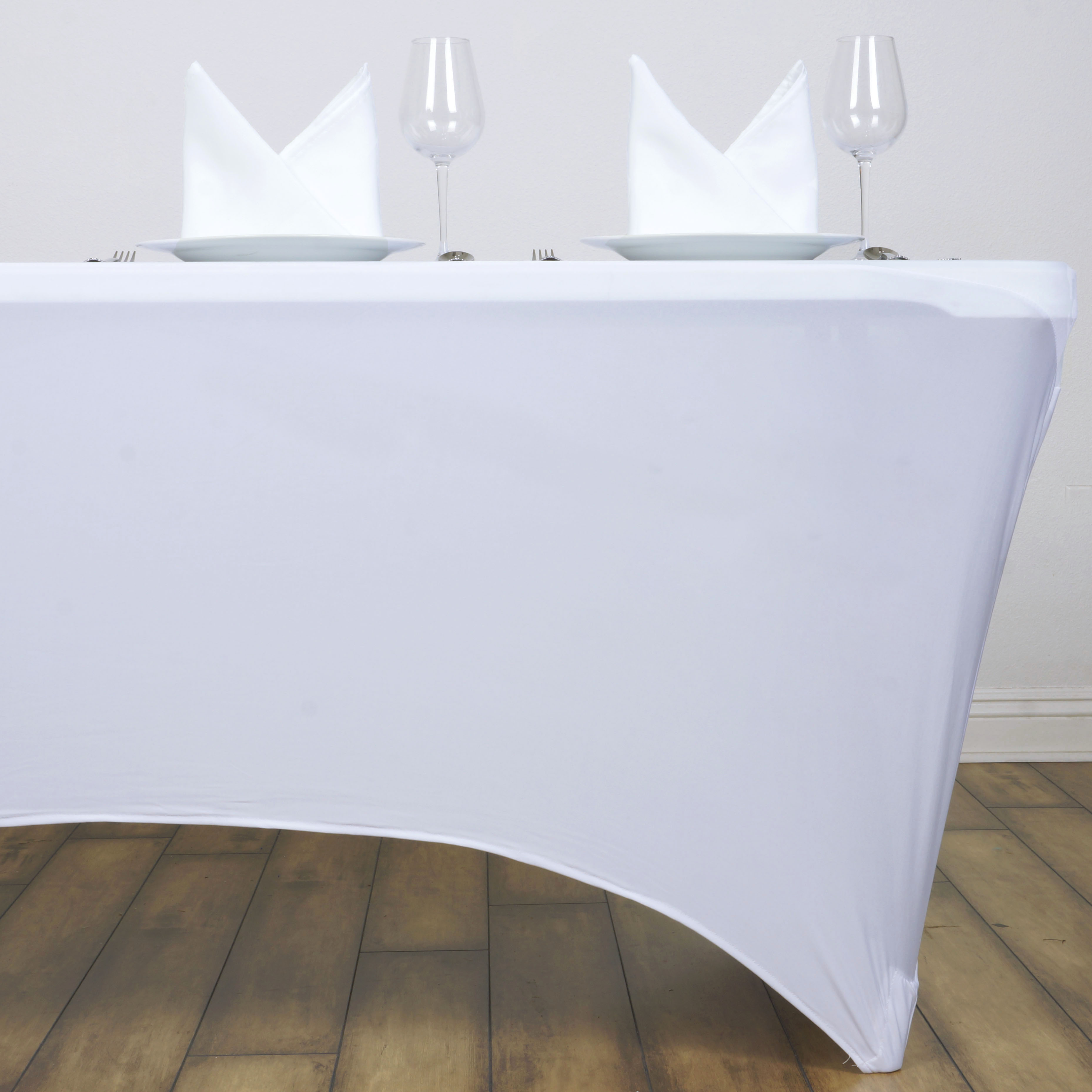 6 pcs 6 ft RECTANGLE SPANDEX STRETCH TABLE COVERS Fitted