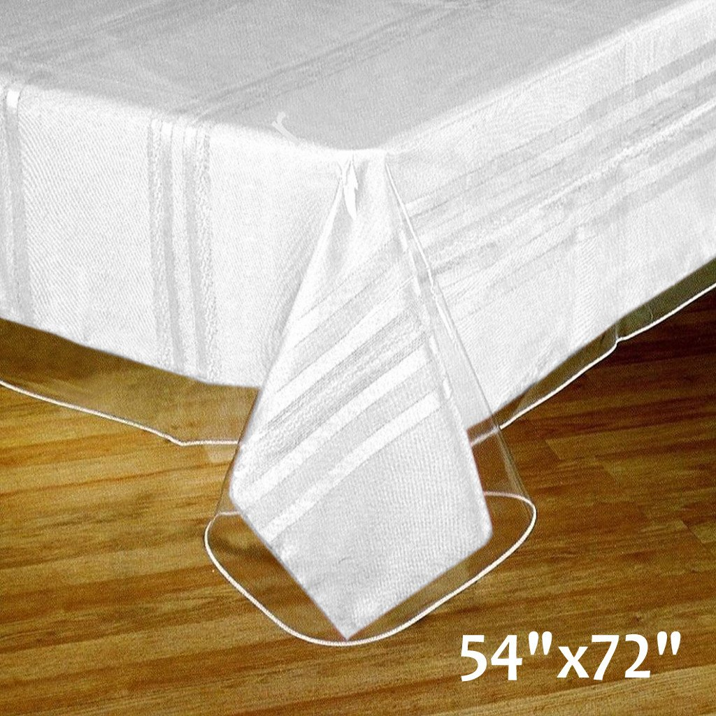 Clear Plastic Vinyl 54x72 Tablecloth Protector Table Cover Wedding