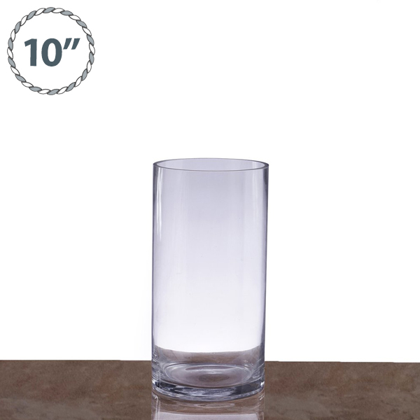 24 Pcs 10 Tall Clear Glass Cylinder Vases Wedding Party