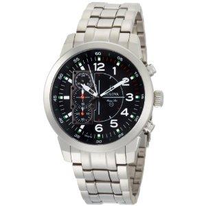 Bulova Mens Marine Star Silver Tone Watch 96A116