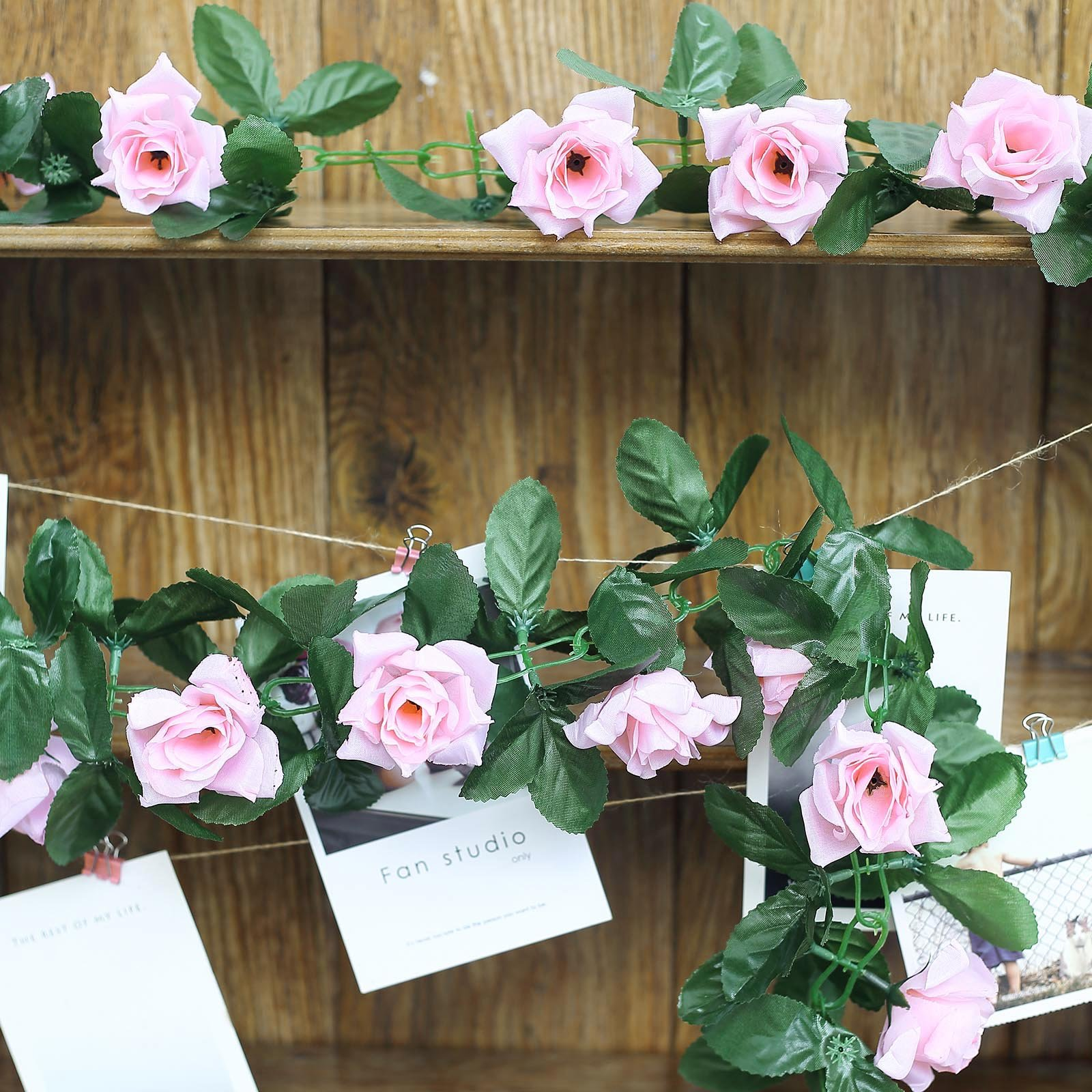 6 ft 3D Chain Silk Rose Garland Wedding Party Supply HUGE LOT Free Shipping