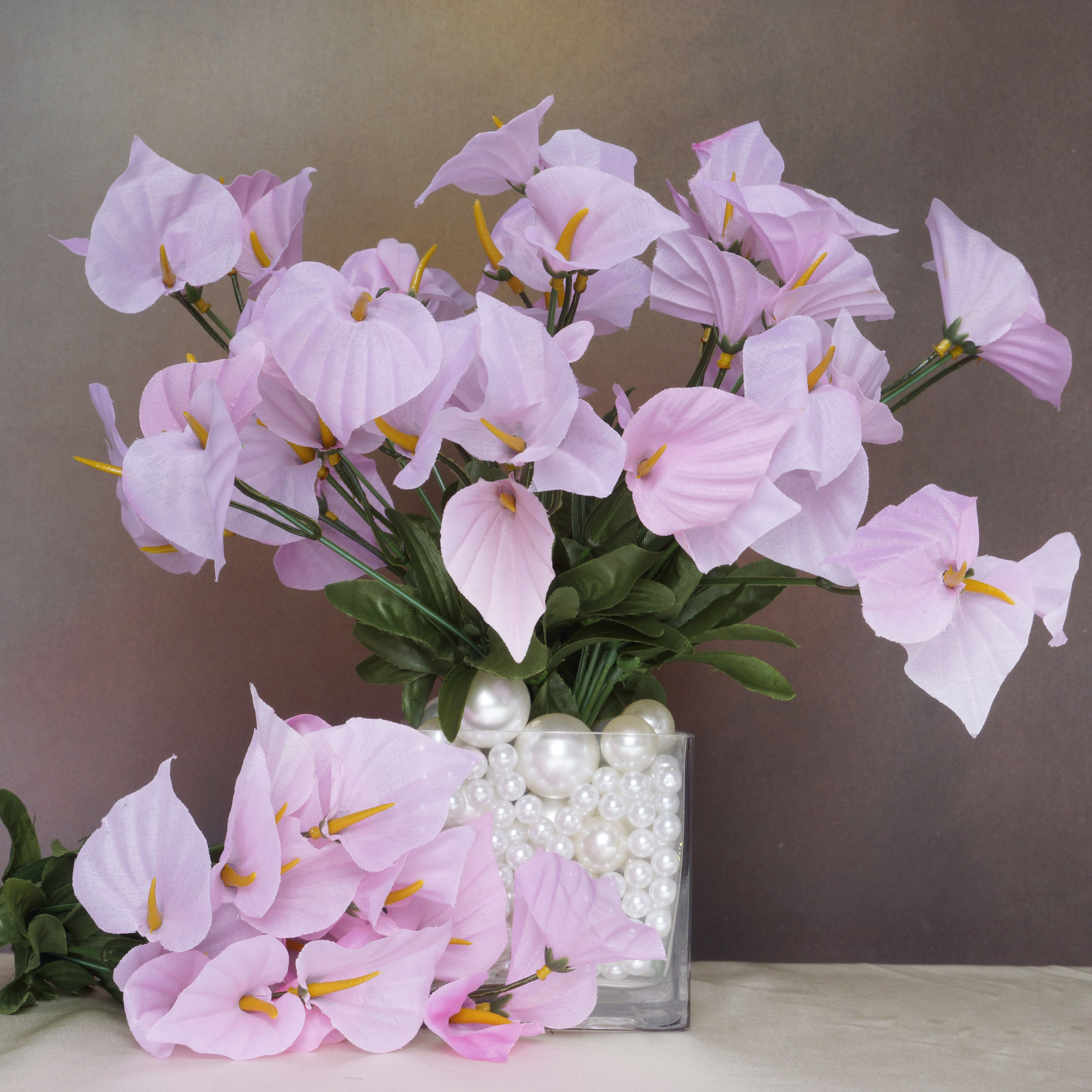 252 Mini Silk Calla Lilies Flowers Bushes For Wedding Bouquets