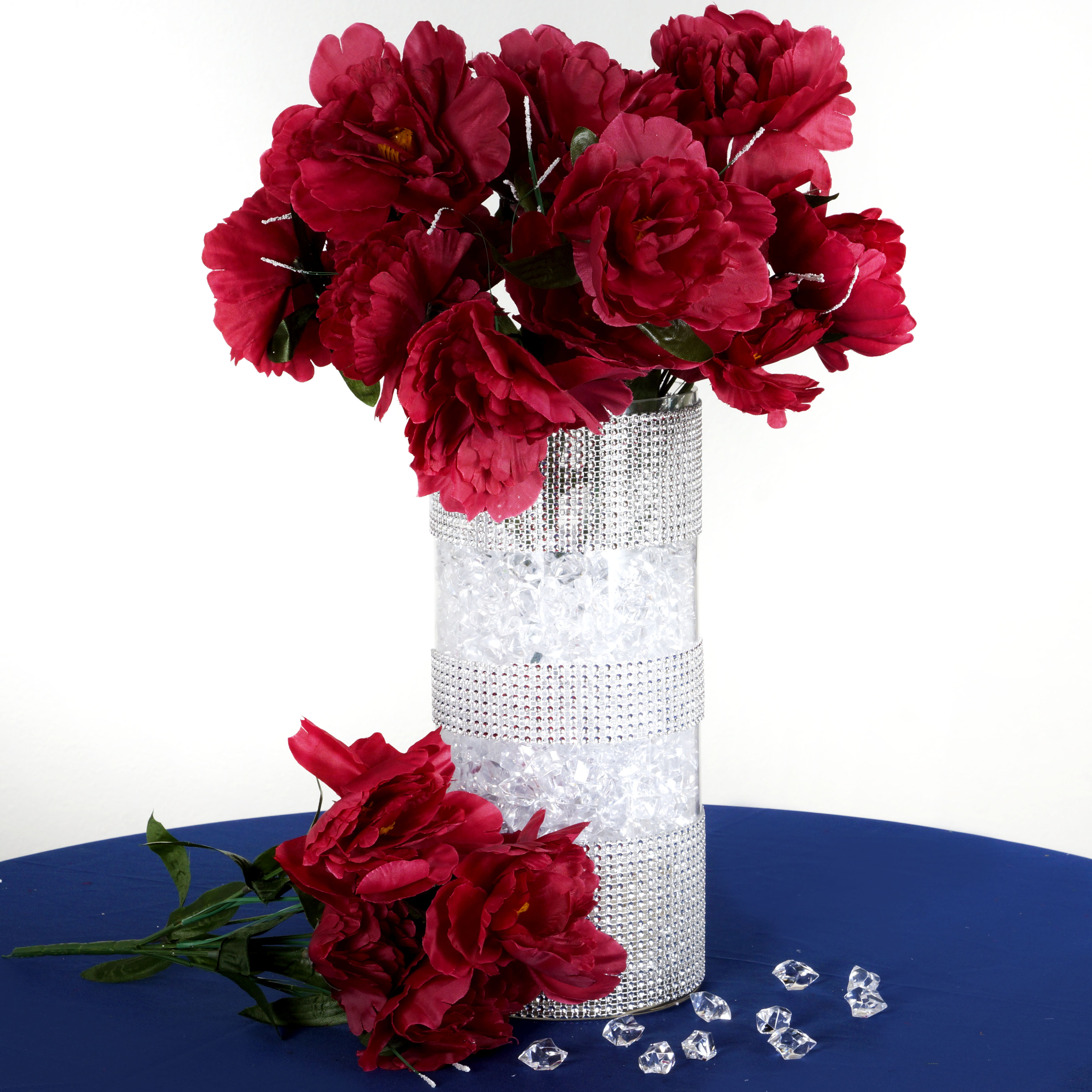 cheap flower bouquets for weddings 2 12 silk peony bushes wedding flowers peonies bouquets 2600