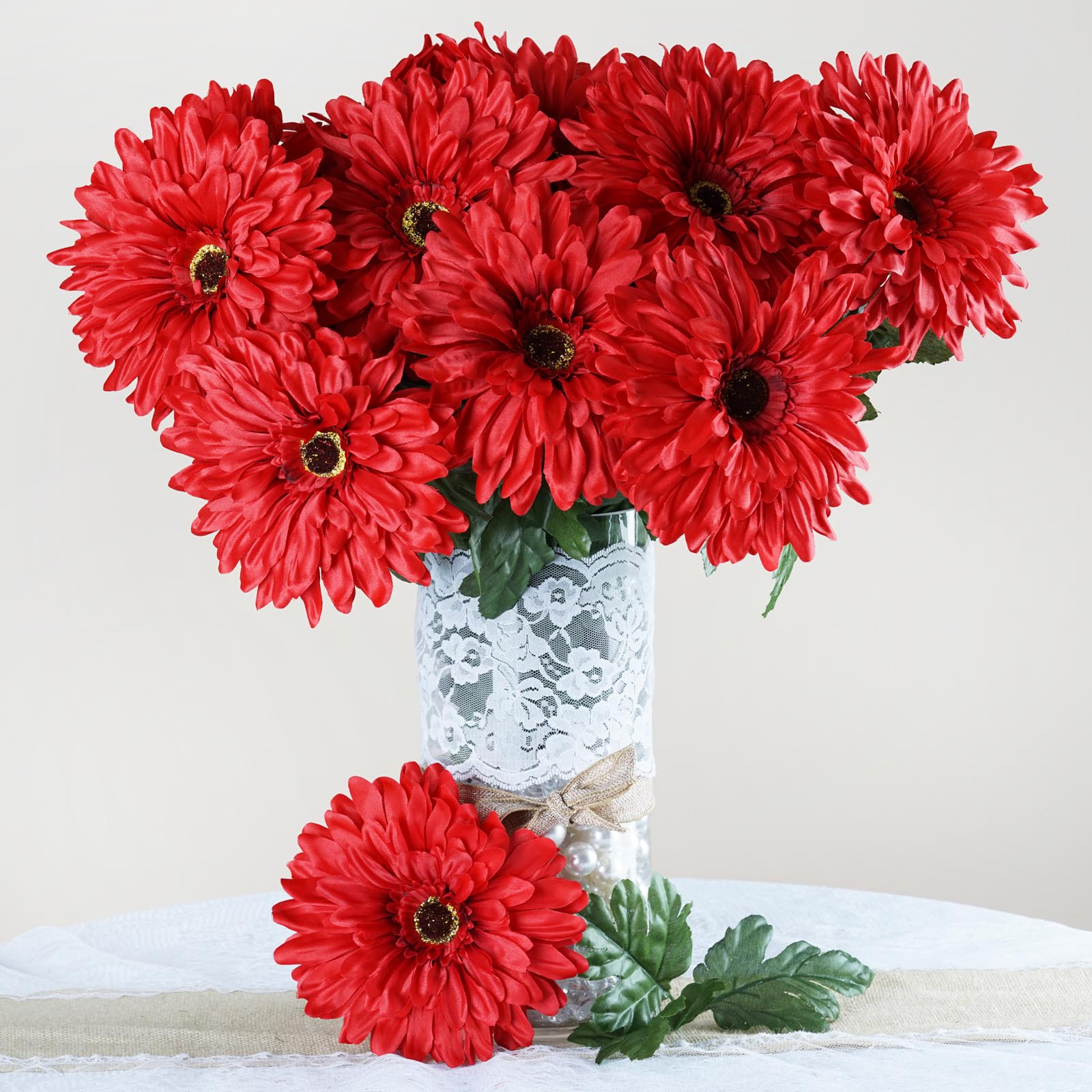 28 Artificial Gerbera Daisy Wedding Party Events Decor Flowers