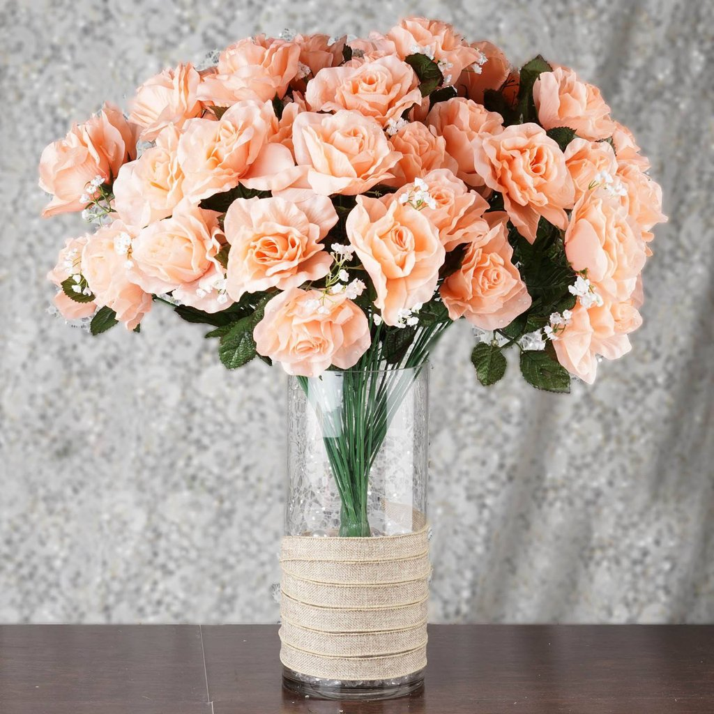 Giant open rose bush wedding flowers for centerpieces