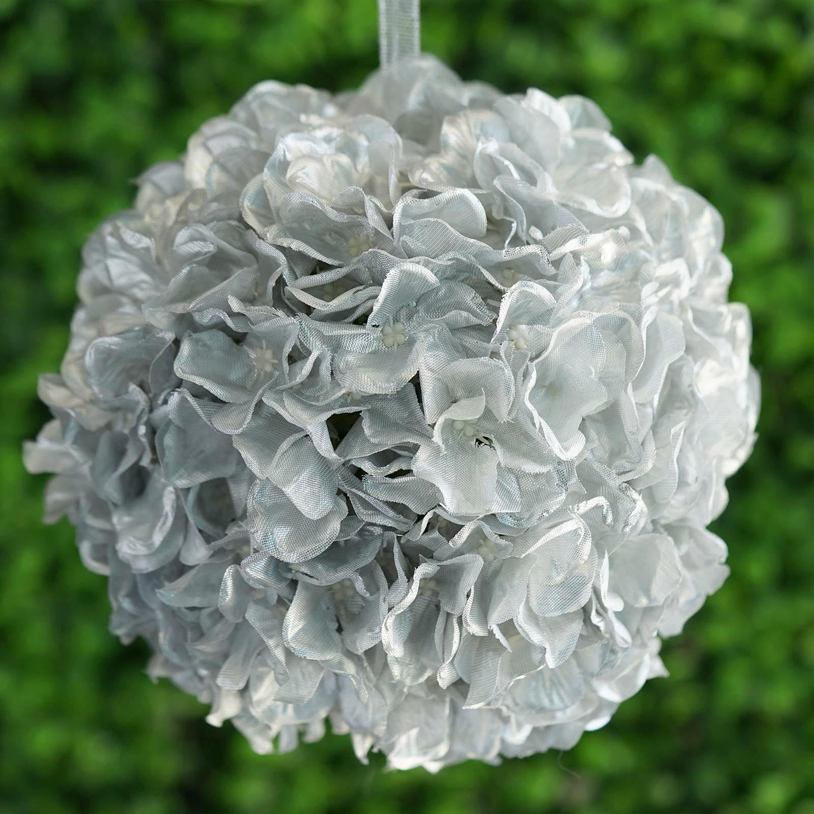 4 Pcs 7 Artificial Hydrangea Kissing Flower Ball Wedding