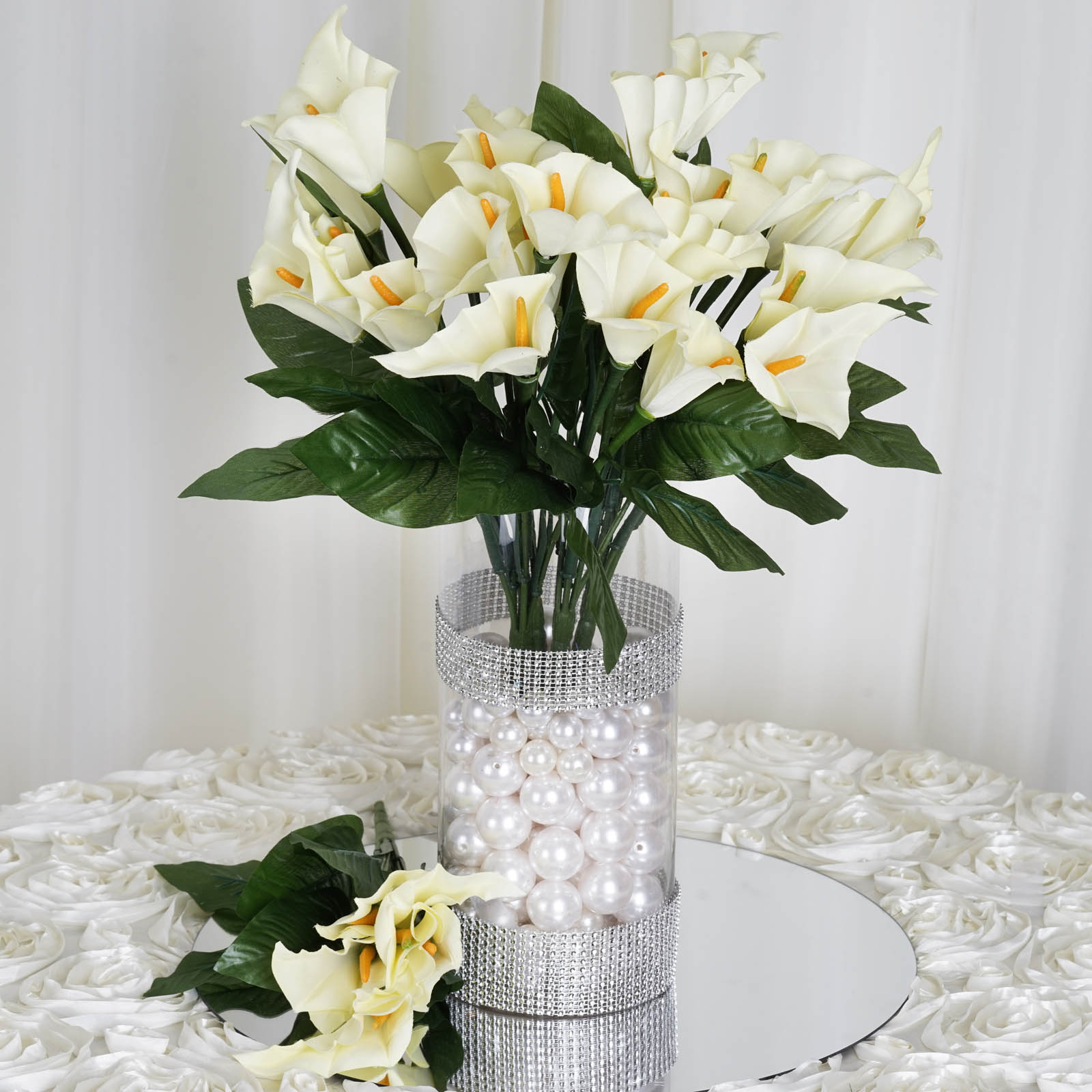 84 Silk Calla Lily Flowers For Wedding Bouquets Centerpieces