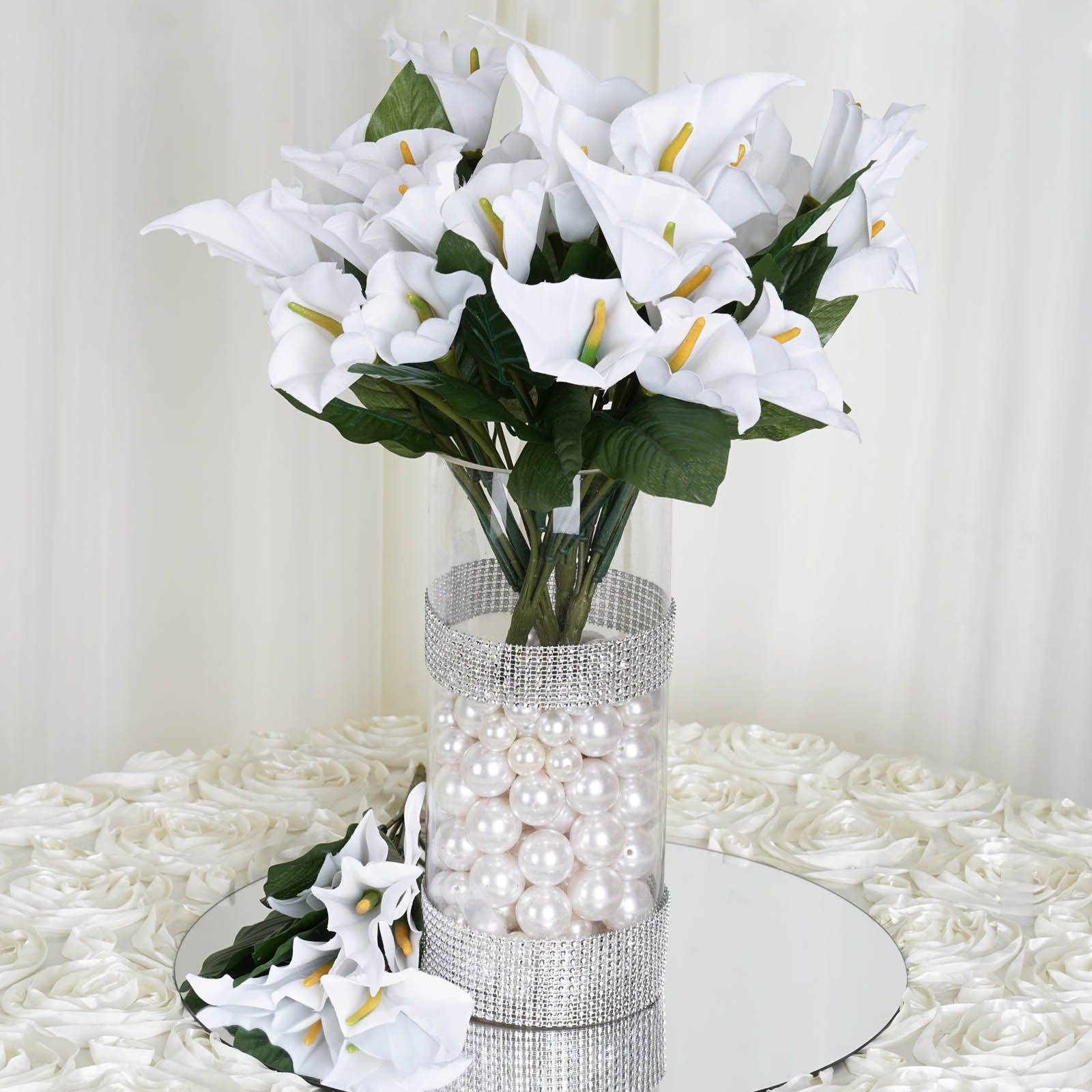 Artificial Flower Wedding Centerpieces: 168 Silk Calla Lily Flowers For Wedding Bouquets