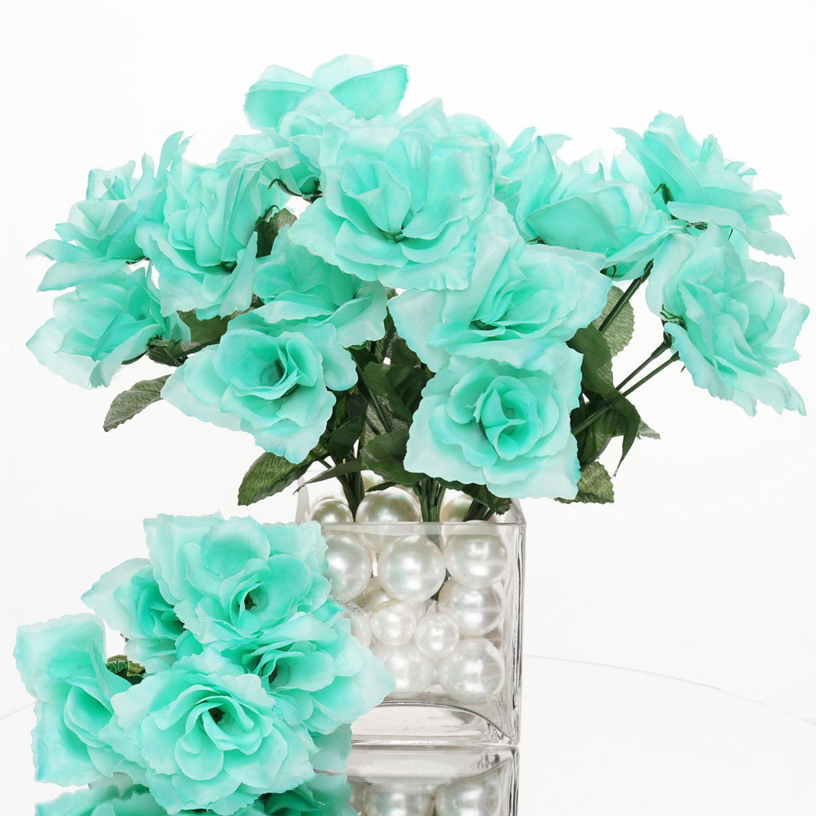 84 Silk Open Roses Wedding Flowers Bouquets Wholesale Supply