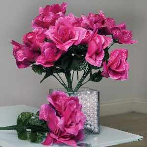 84 Artificial Open Roses Wedding Flowers Bouquets Ebay