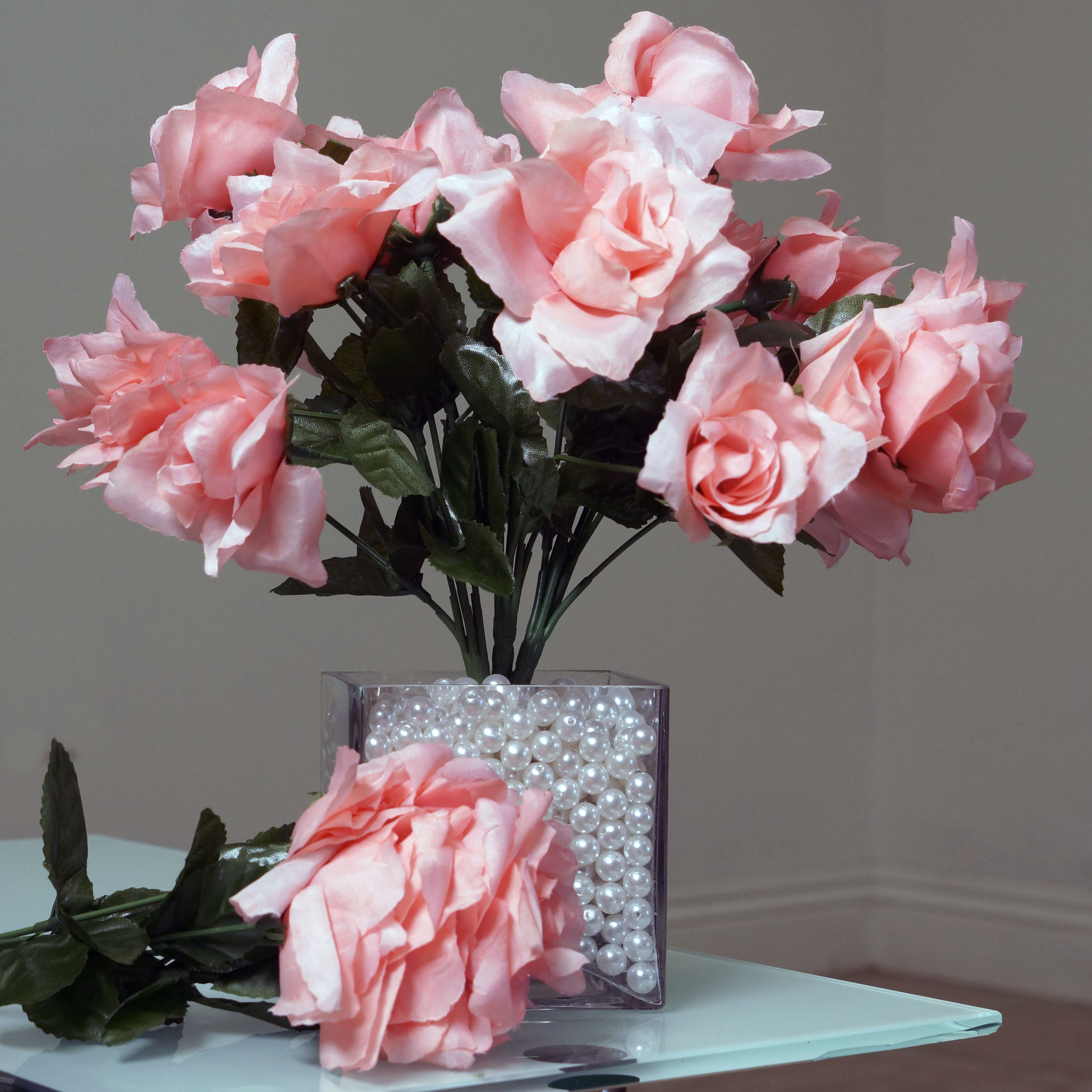 252 Silk Open Roses Wedding Flowers Bouquets Wholesale Supply ...