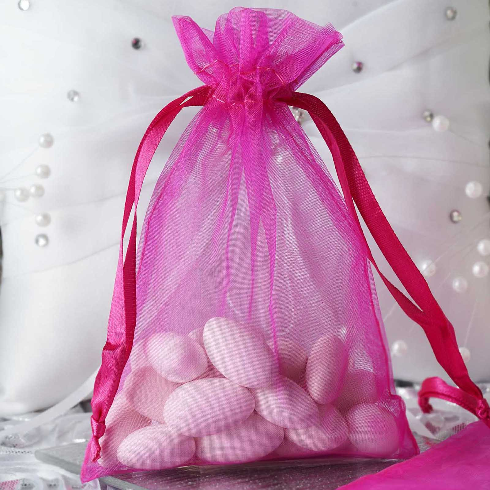10PCS Organza Gift Bag Drawstring Pouch Wedding Favors Jewelry Bags ...
