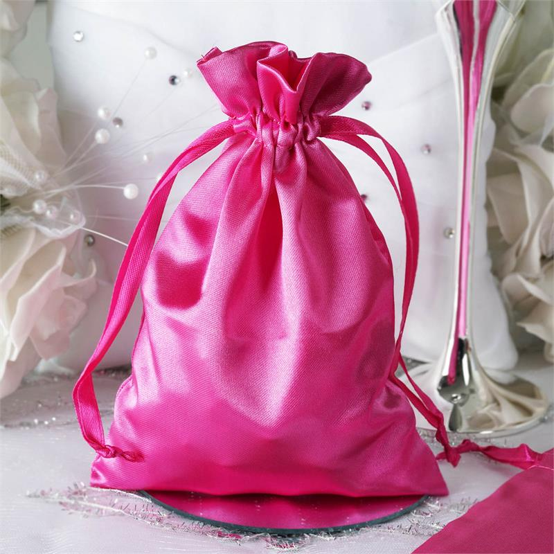 5x7 Satin Bags With Pull String Wedding Party Gift Favors Pouches