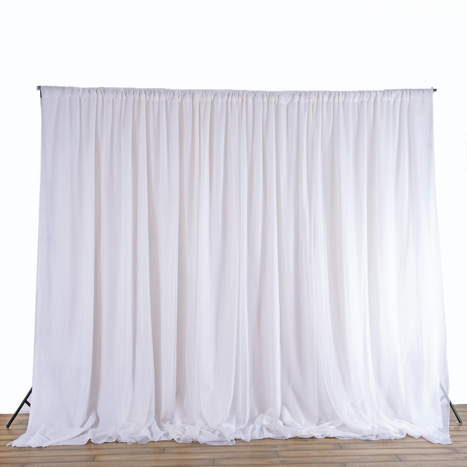 20 Ft X 8 Ft White Fabric Backdrop Wedding Altar Ceremony