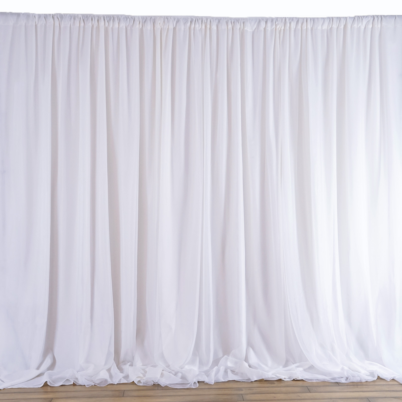20 Ft X 10 Ft White Fabric Backdrop Wedding Party
