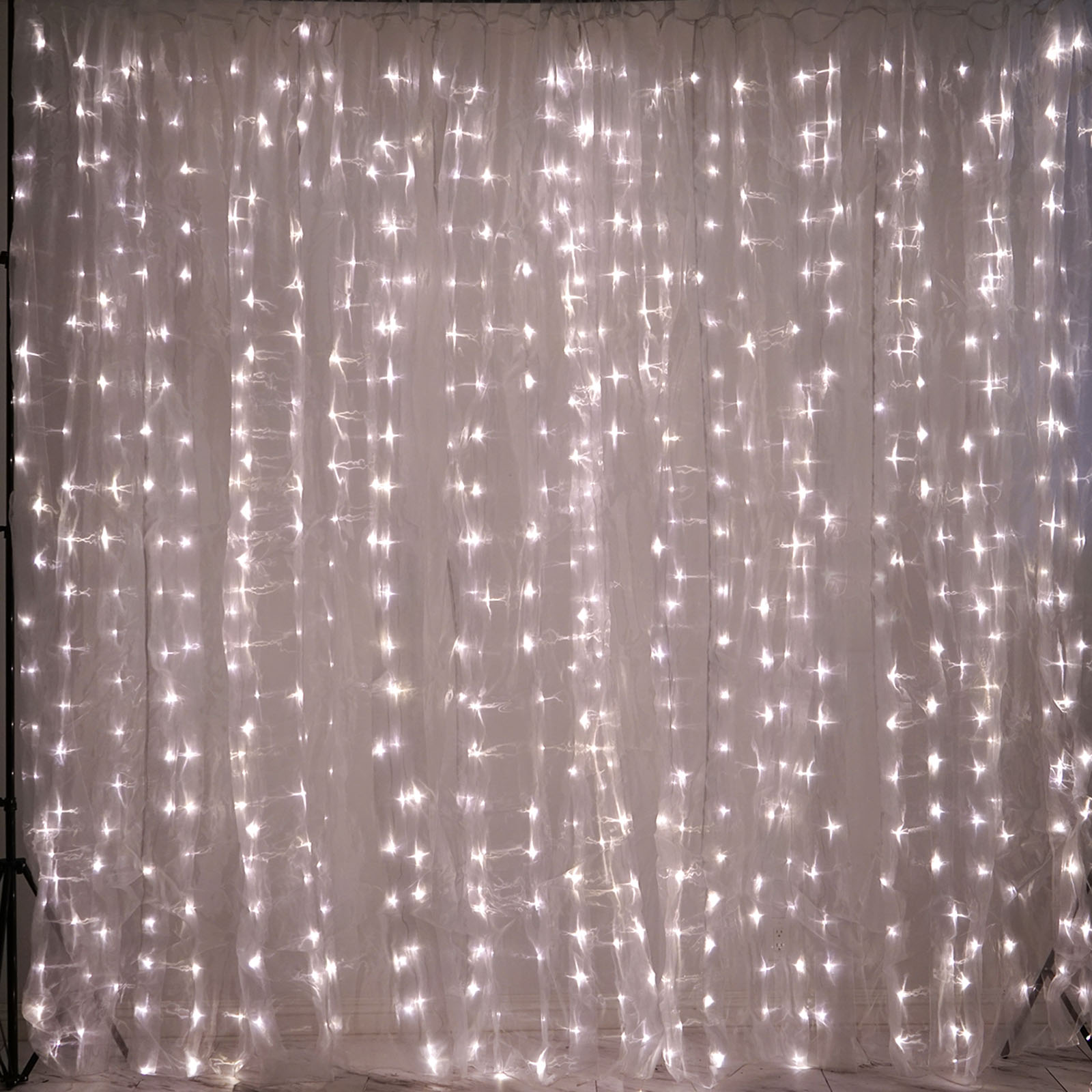 "Wedding Party Backdrops Sale 96/"" long Clear Meteor Rain Sequence LED Lights"