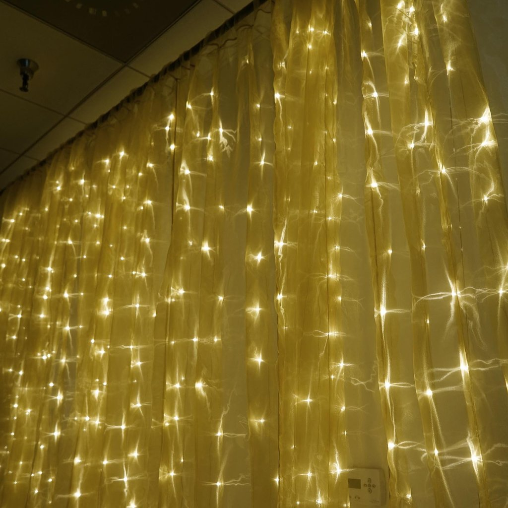 Wedding Backdrops With Lights: 20ft X 10ft LED Lights Organza BACKDROP Curtain Photobooth