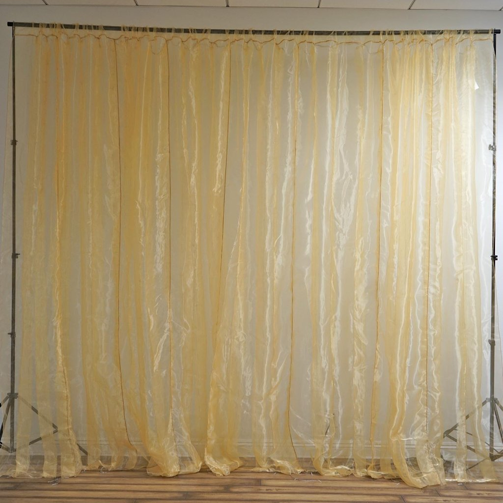 20ft X 10ft Led Lights Organza Backdrop Curtain Photobooth
